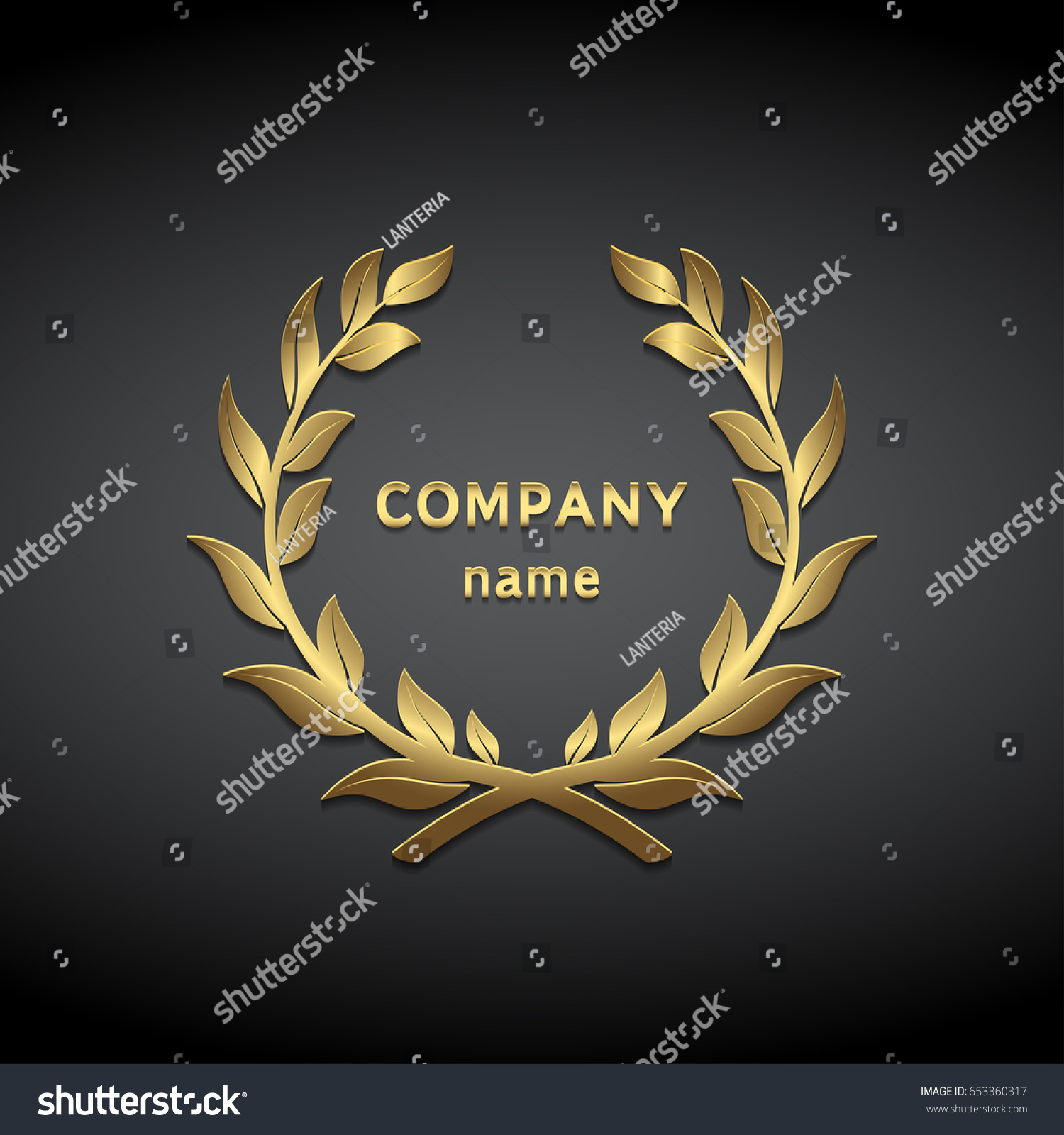 Gold symbol laurel leaves stock vector 653360317 shutterstock gold symbol from laurel leaves buycottarizona