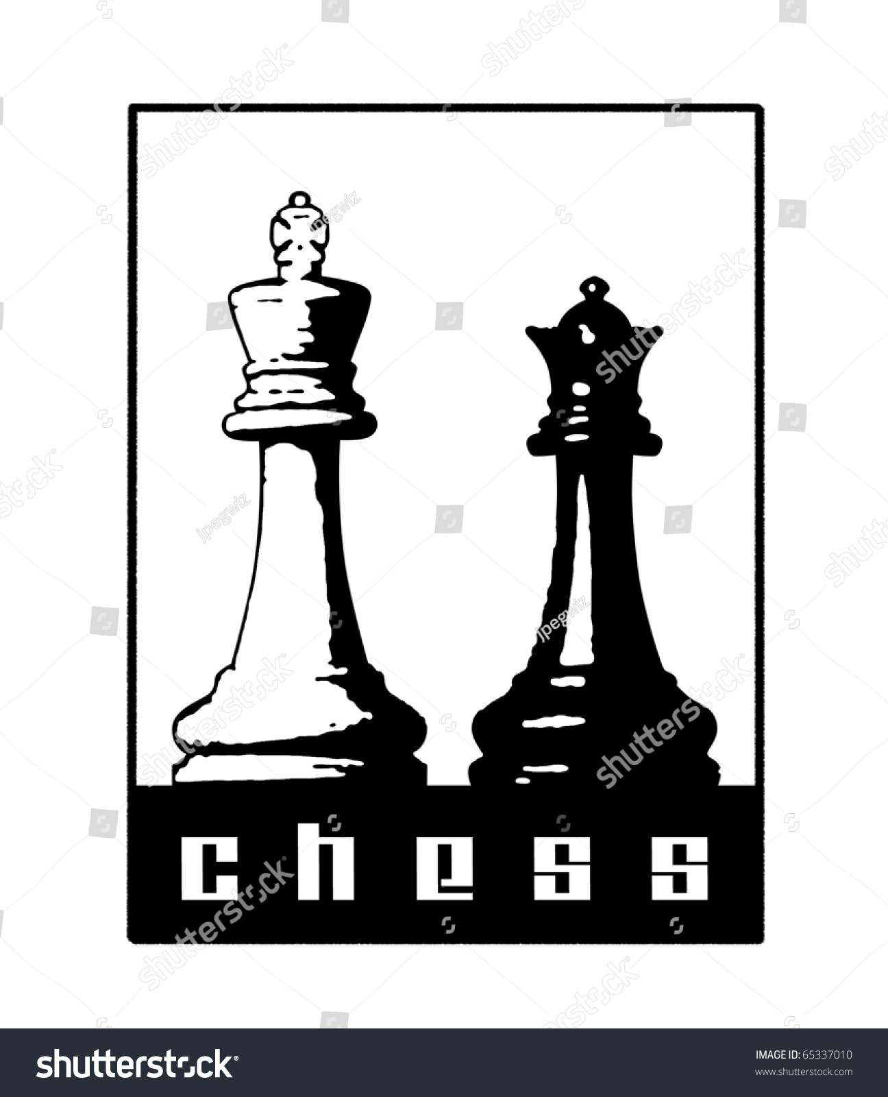 Chess symbol king queen pieces stock illustration 65337010 chess symbol with king and queen pieces biocorpaavc Gallery