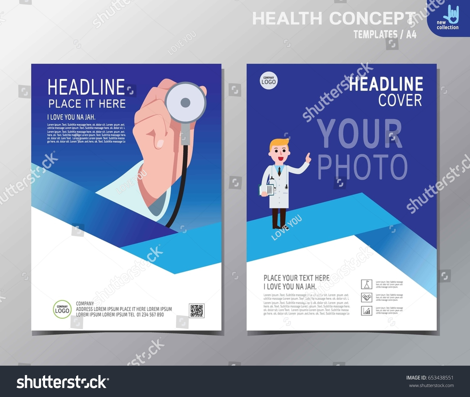 Banner Flyer Brochure Template Layout Close Stock Vector Royalty