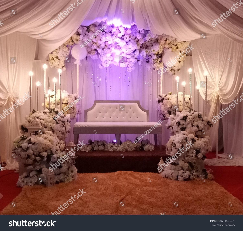 Decoration Beautiful Malaysian Wedding Dais White Stock Photo (Edit ...
