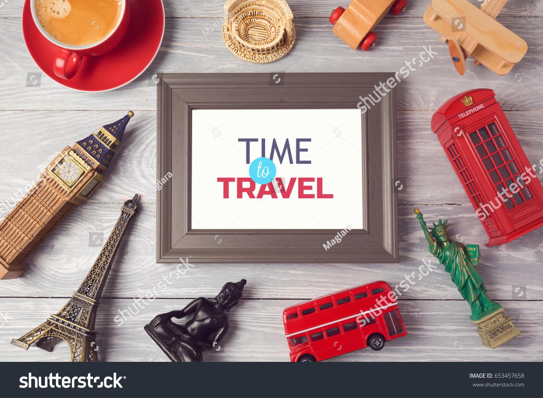 Travel Tourism Concept Photo Frame Souvenirs Stock Photo (Edit Now ...