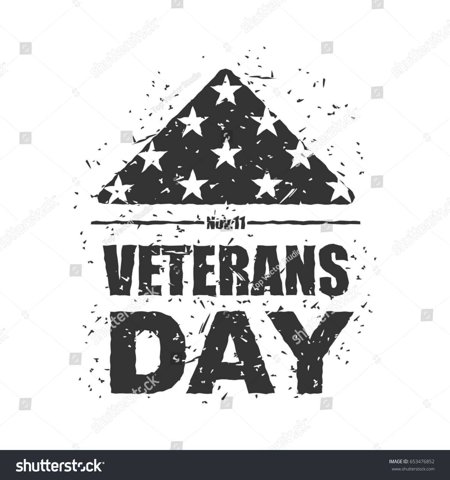 Veterans day usa flag america folded stock illustration 653476852 veterans day in usa flag america folded in triangle symbol of mourning national sign biocorpaavc