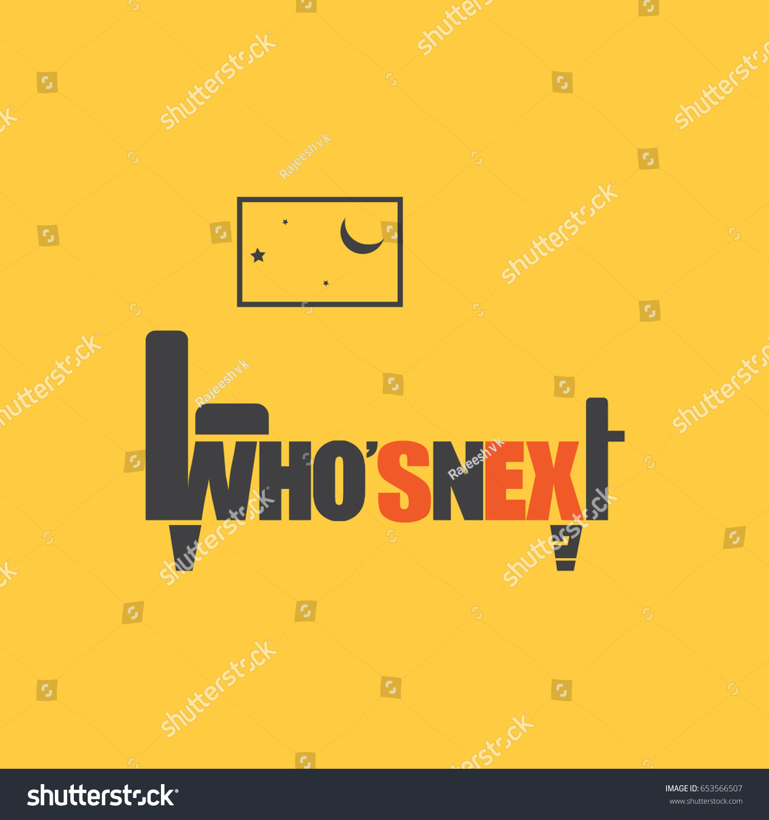 Whos Creative Typography Poster Stock Vector 653566507