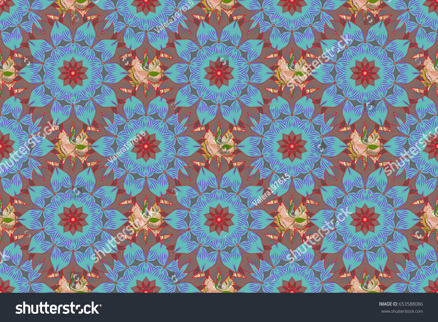 Watercolor hand painting of abstract blue flowers seamless pattern id 653588086 izmirmasajfo