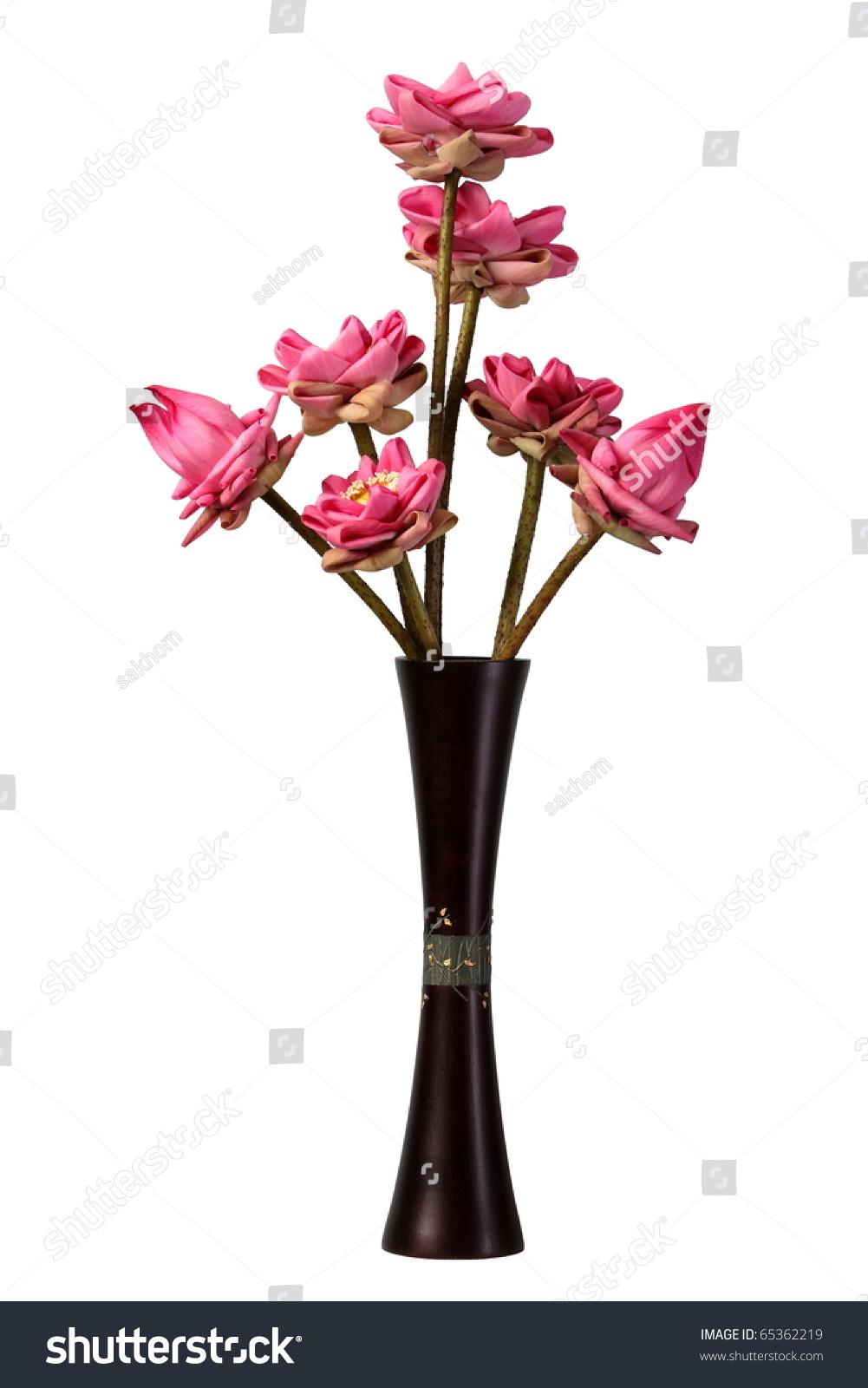 Folded Lotus Flowers Vase Isolated White Stock Photo Edit Now
