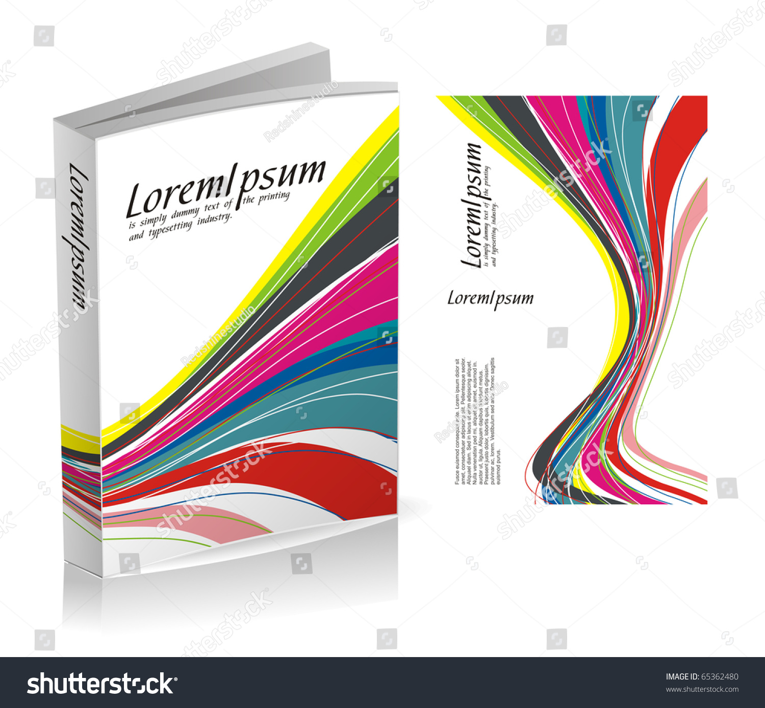 Book Cover Design Drawing : Book cover design isolated over colorful stock vector