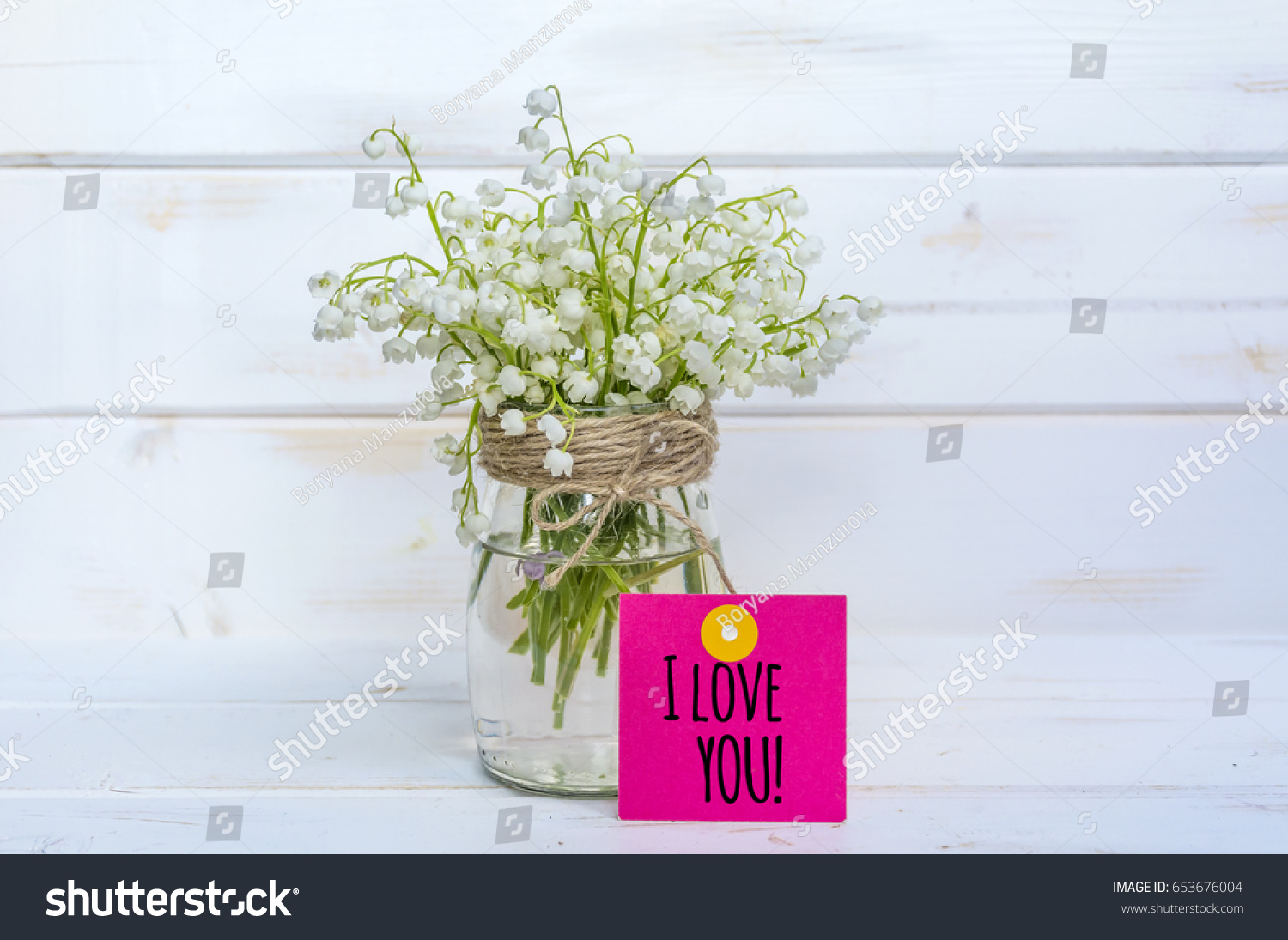 Beautiful Lily Valley Flowers Bouquet Love Stock Photo Edit Now