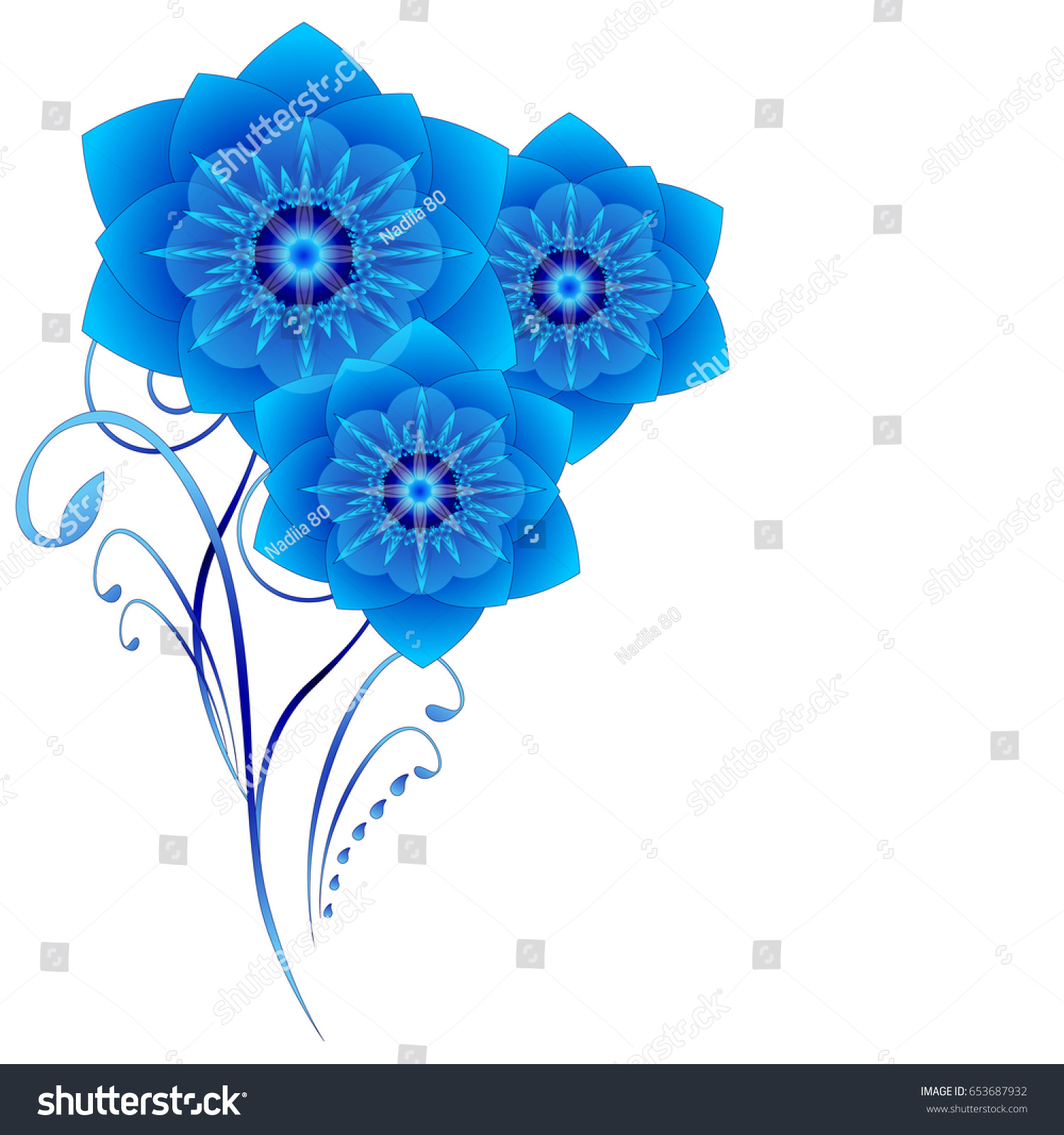 Floral background abstract blue flowers on stock vector royalty floral background with abstract blue flowers on a white background izmirmasajfo