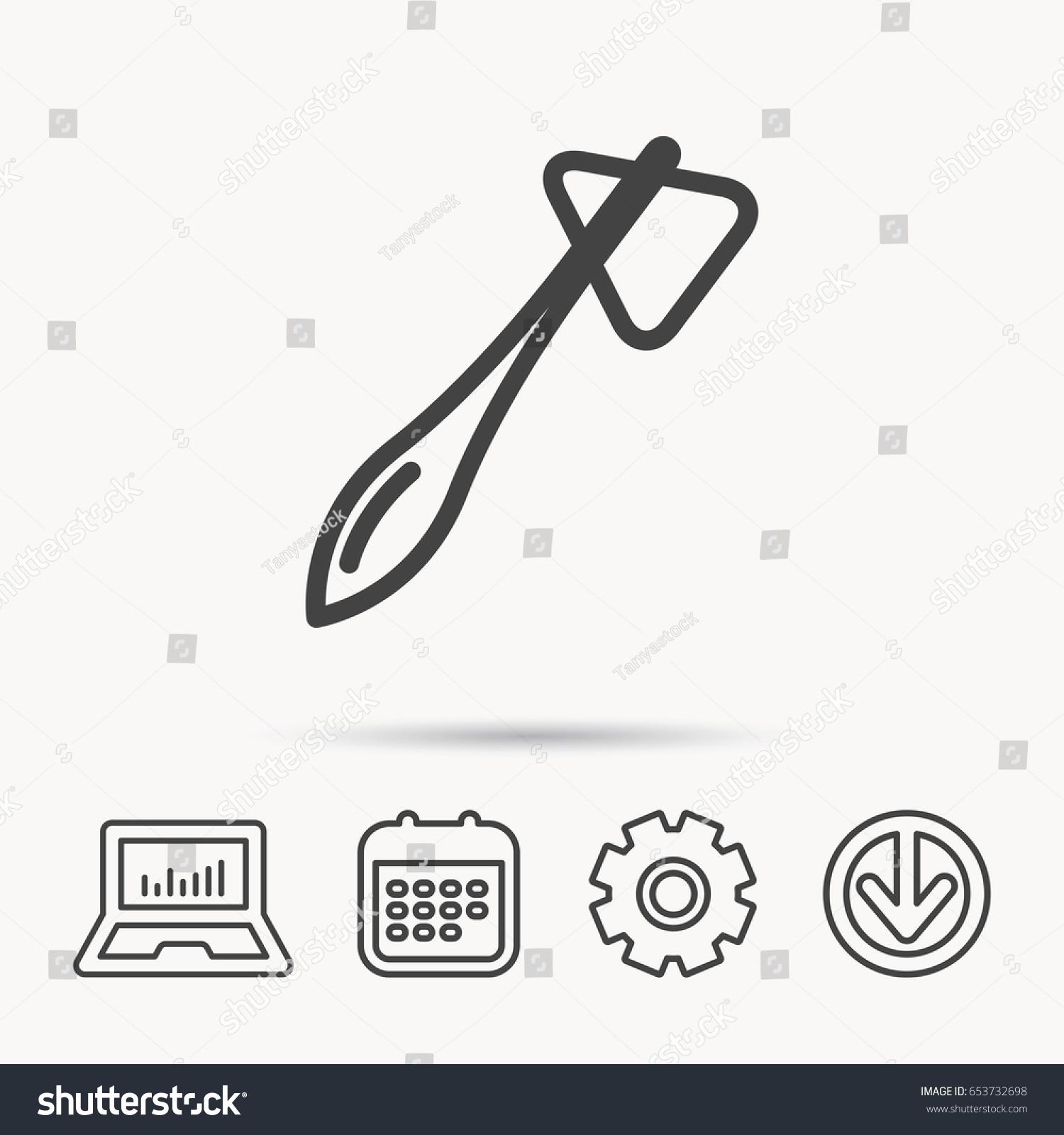 Reflex hammer icon doctor medical equipment stock vector 653732698 doctor medical equipment sign nervous therapy tool symbol notebook biocorpaavc Choice Image