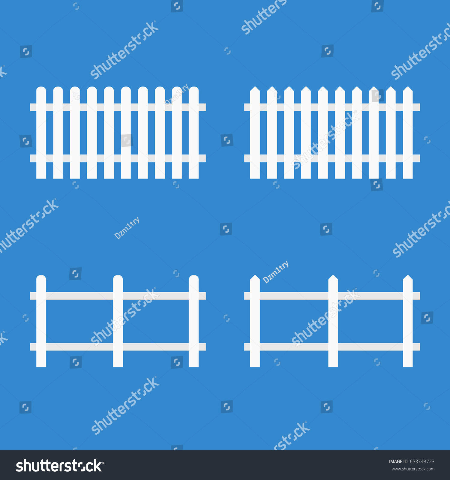 white picket fence vector illustration isolated stock vector