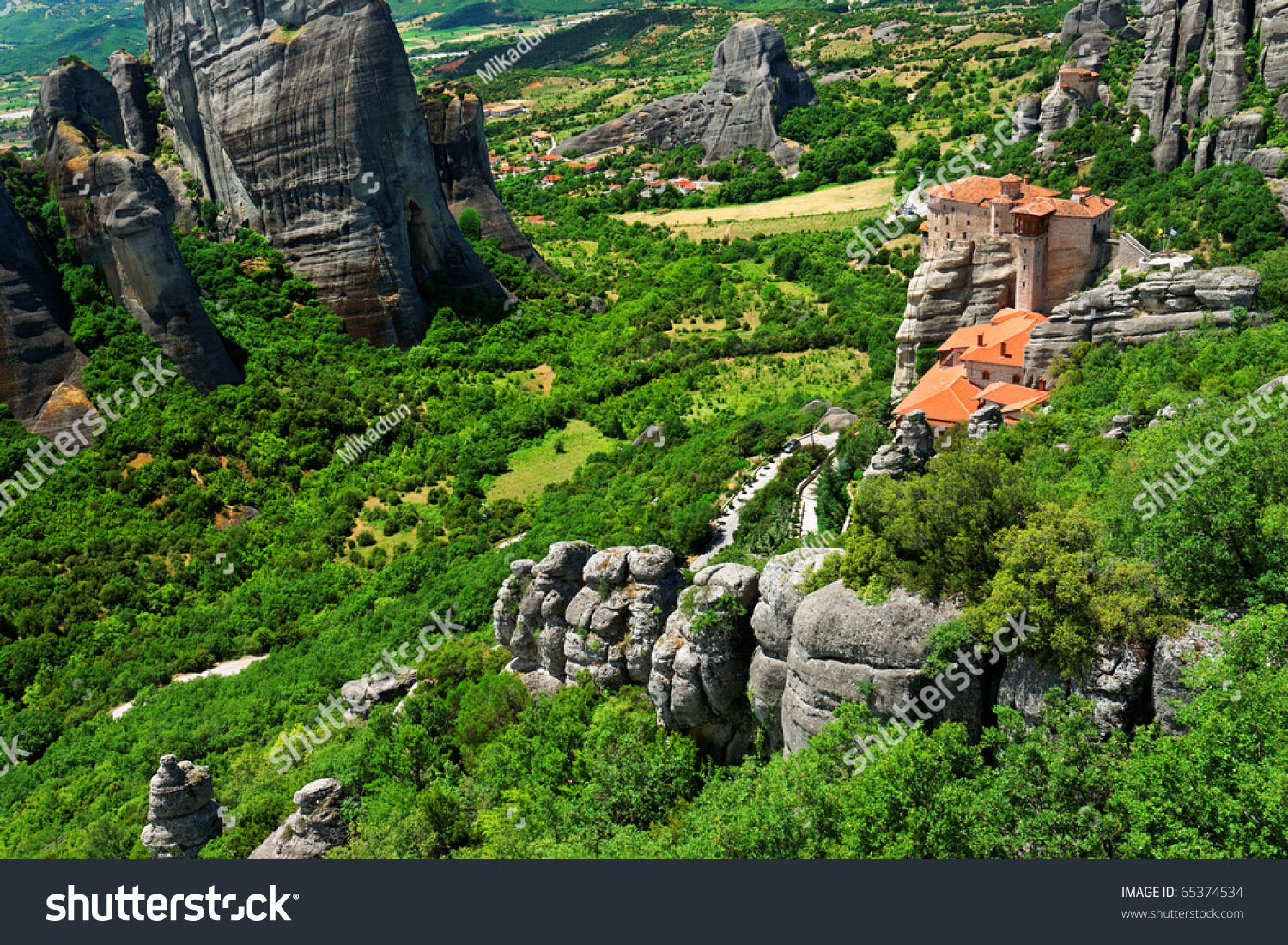 The Holy Monastery Of Rousanou / St. Barbara (Founded In ...