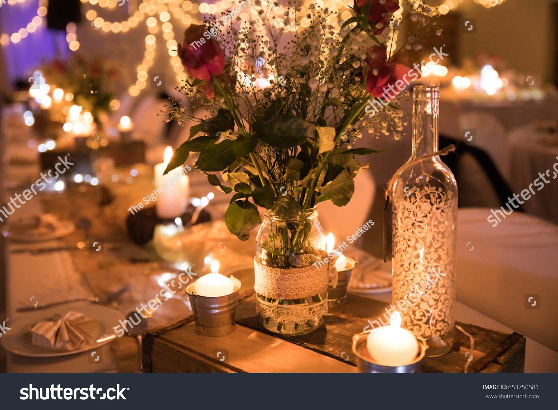 Beautiful Natural Wedding Decor Roses Flowers Stock Photo Edit Now
