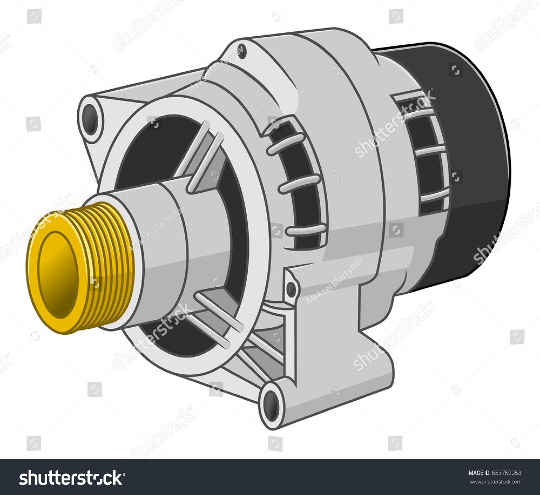 Car Generator Stock Vector Shutterstock