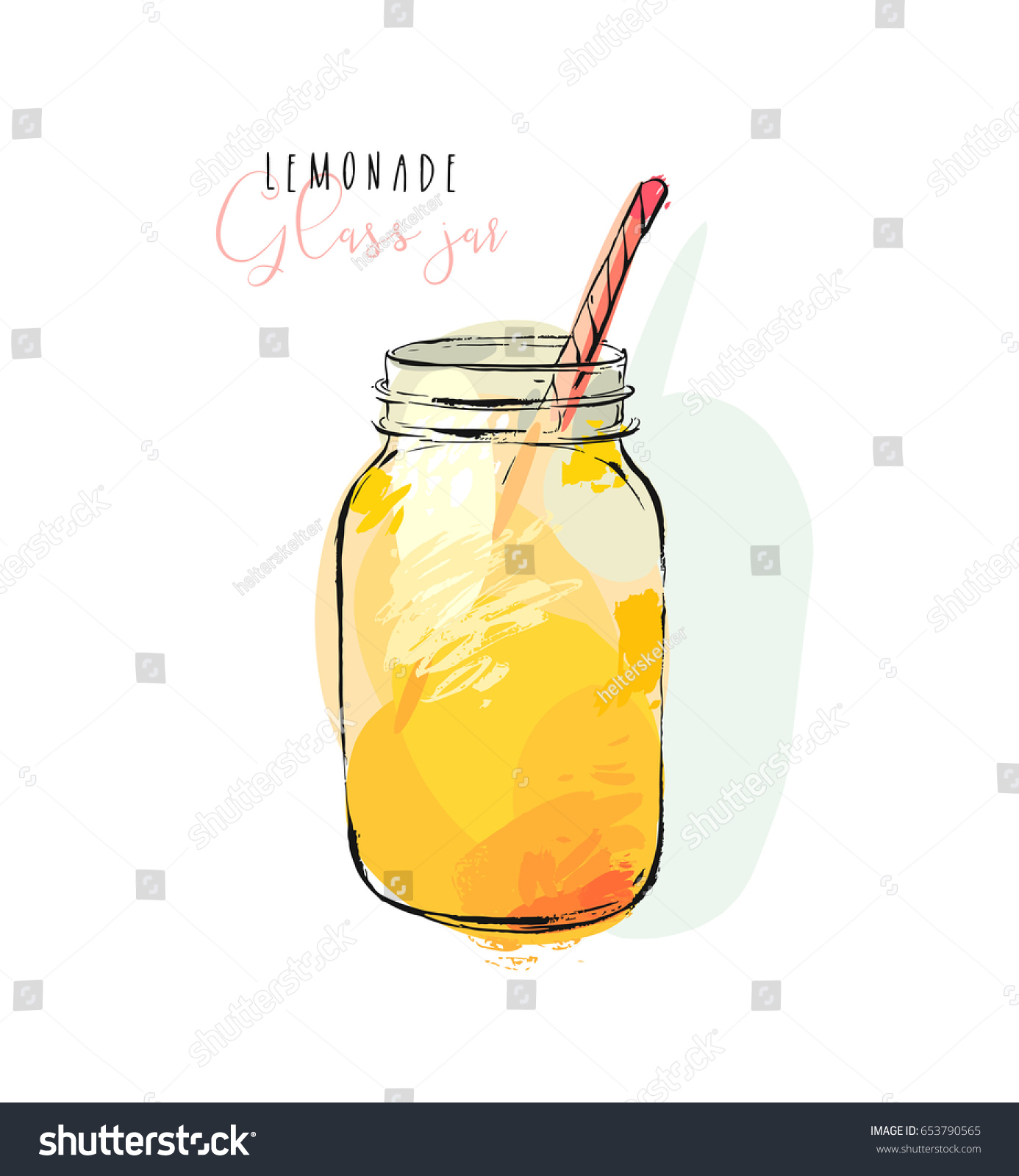 hand drawn vector abstract artistic cooking stock vector 653790565