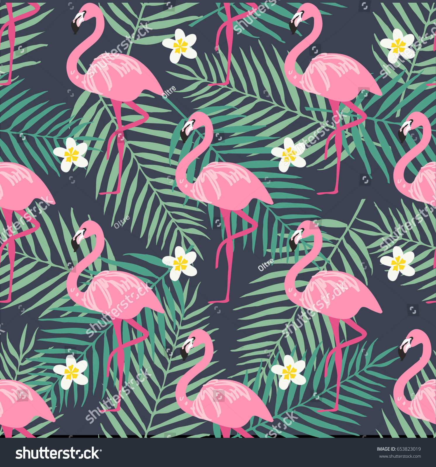 tropical leaf seamless fashion garden stock image and photo vector pattern bird flower flamingo flags