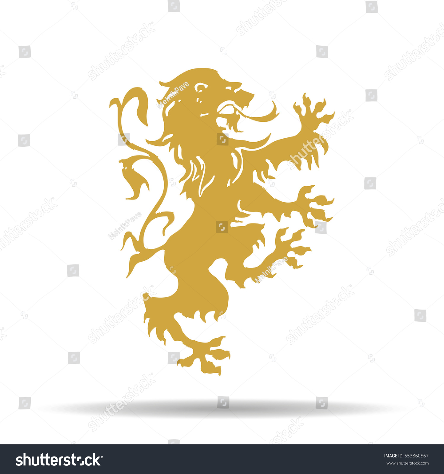 Stylised lion rampant like symbol leo stock vector 653860567 a stylised lion rampant like the symbol for leo biocorpaavc