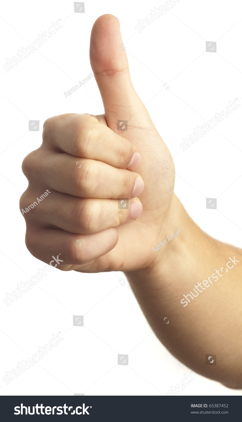 Hand symbol that means good on stock photo 65387452 shutterstock hand symbol that means good on white background buycottarizona Choice Image