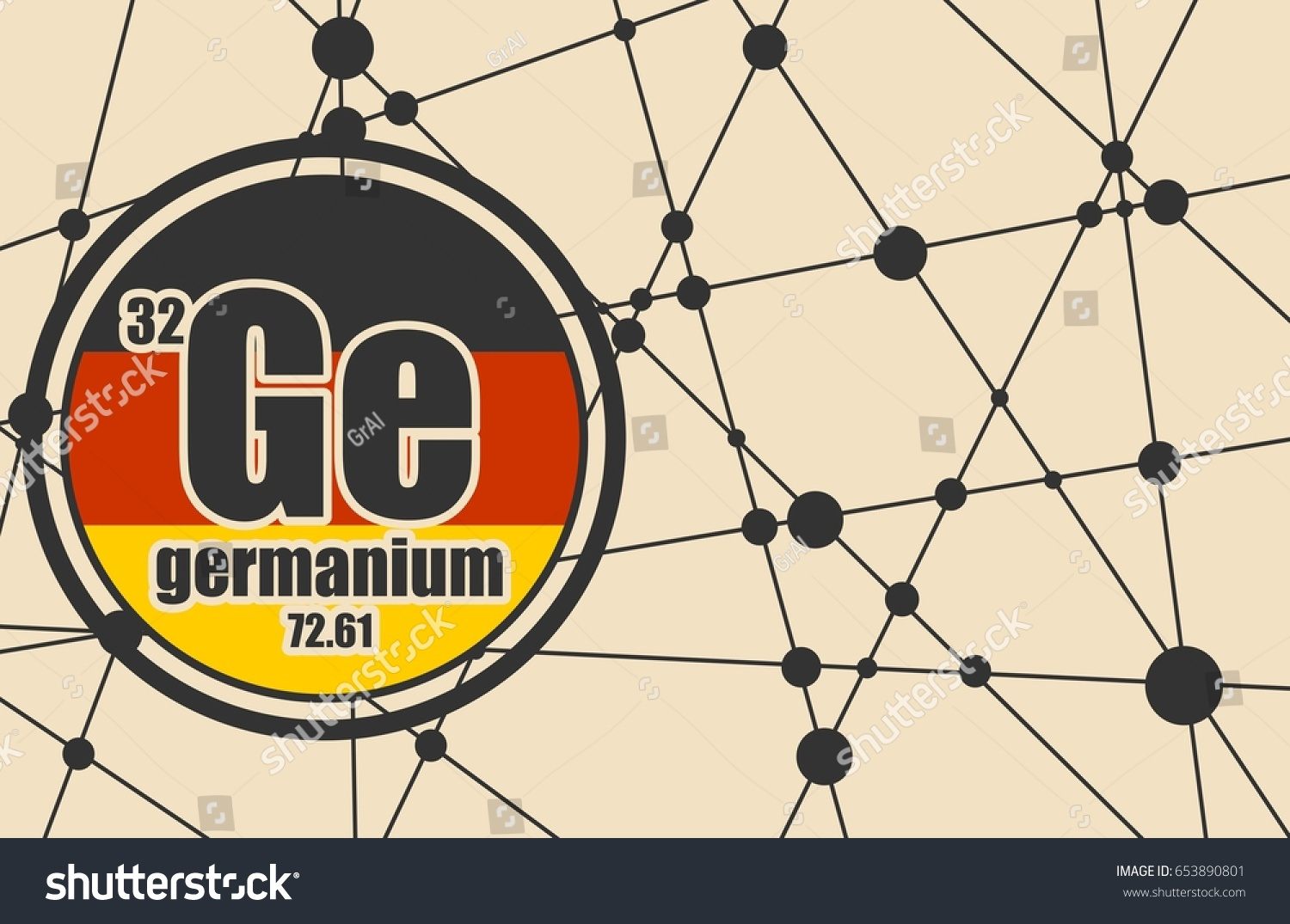 Germanium chemical element sign atomic number stock vector sign with atomic number and atomic weight chemical element of periodic gamestrikefo Choice Image