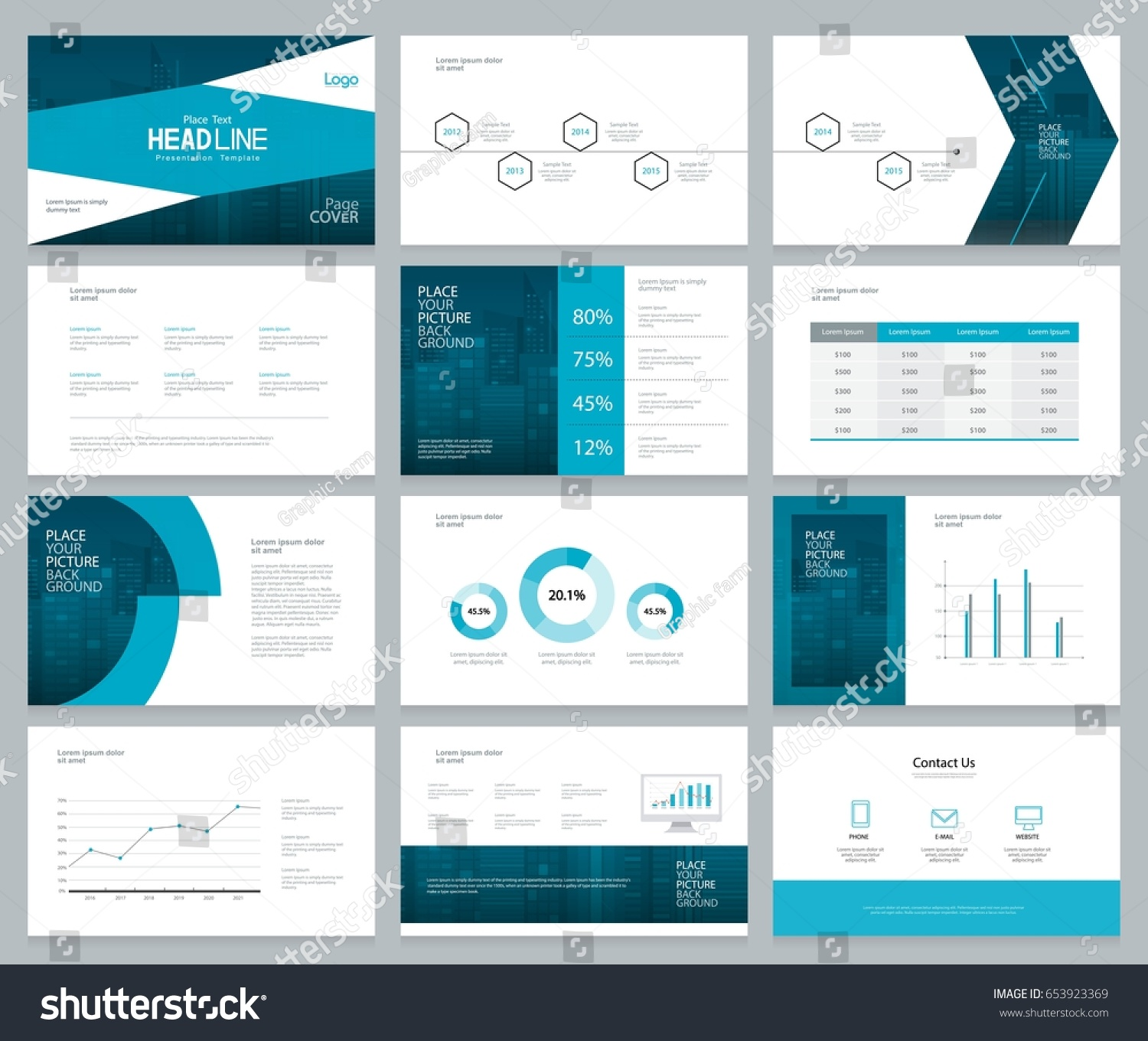 business presentation design template page layout のベクター画像