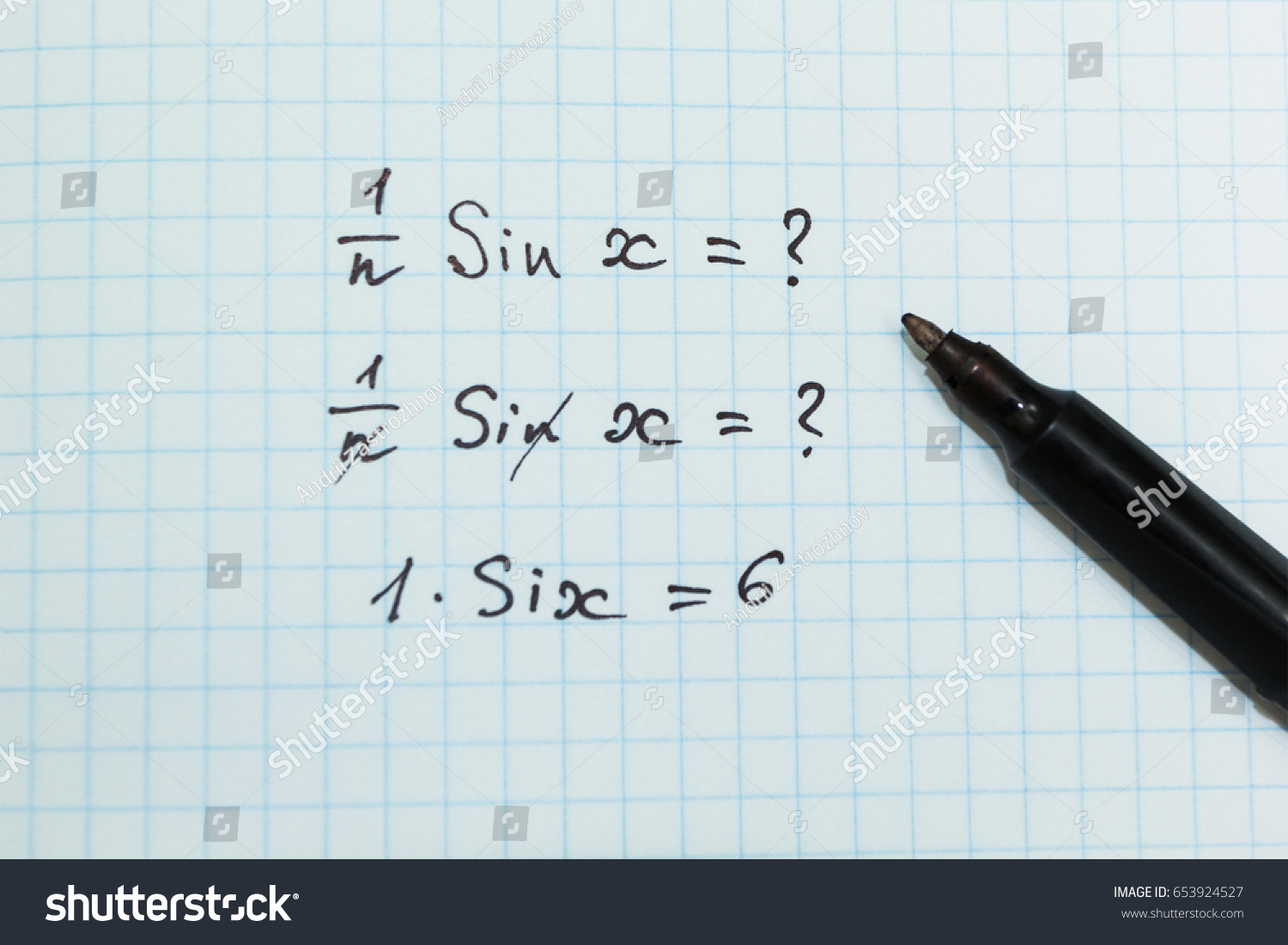 Wrong Solution Mathematical Example Math Problems Stock Photo ...