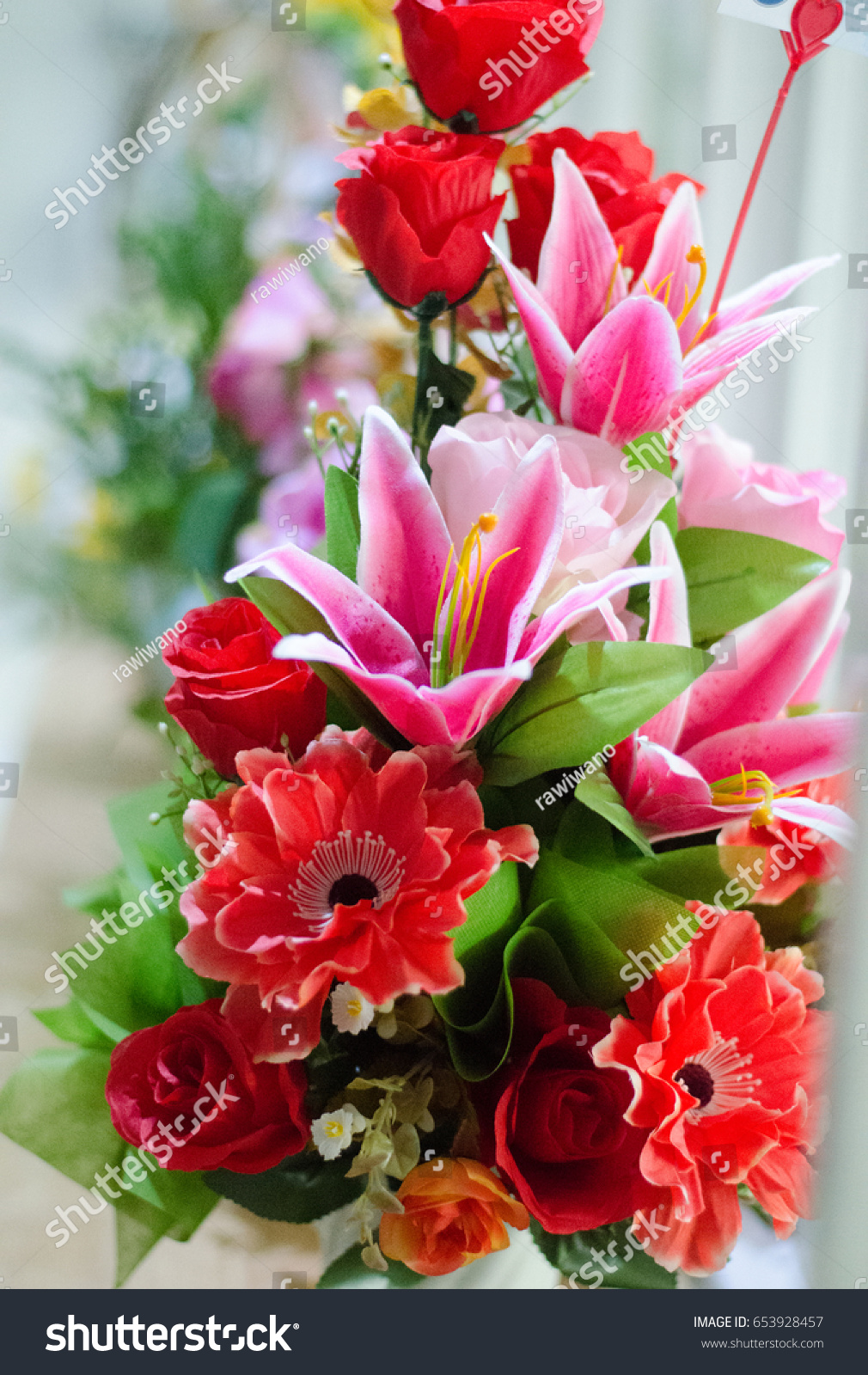 Beautiful flowers mixed red pink colors stock photo edit now beautiful flowers mixed red and pink colors in vase congratulation gift for occasions in good morning izmirmasajfo