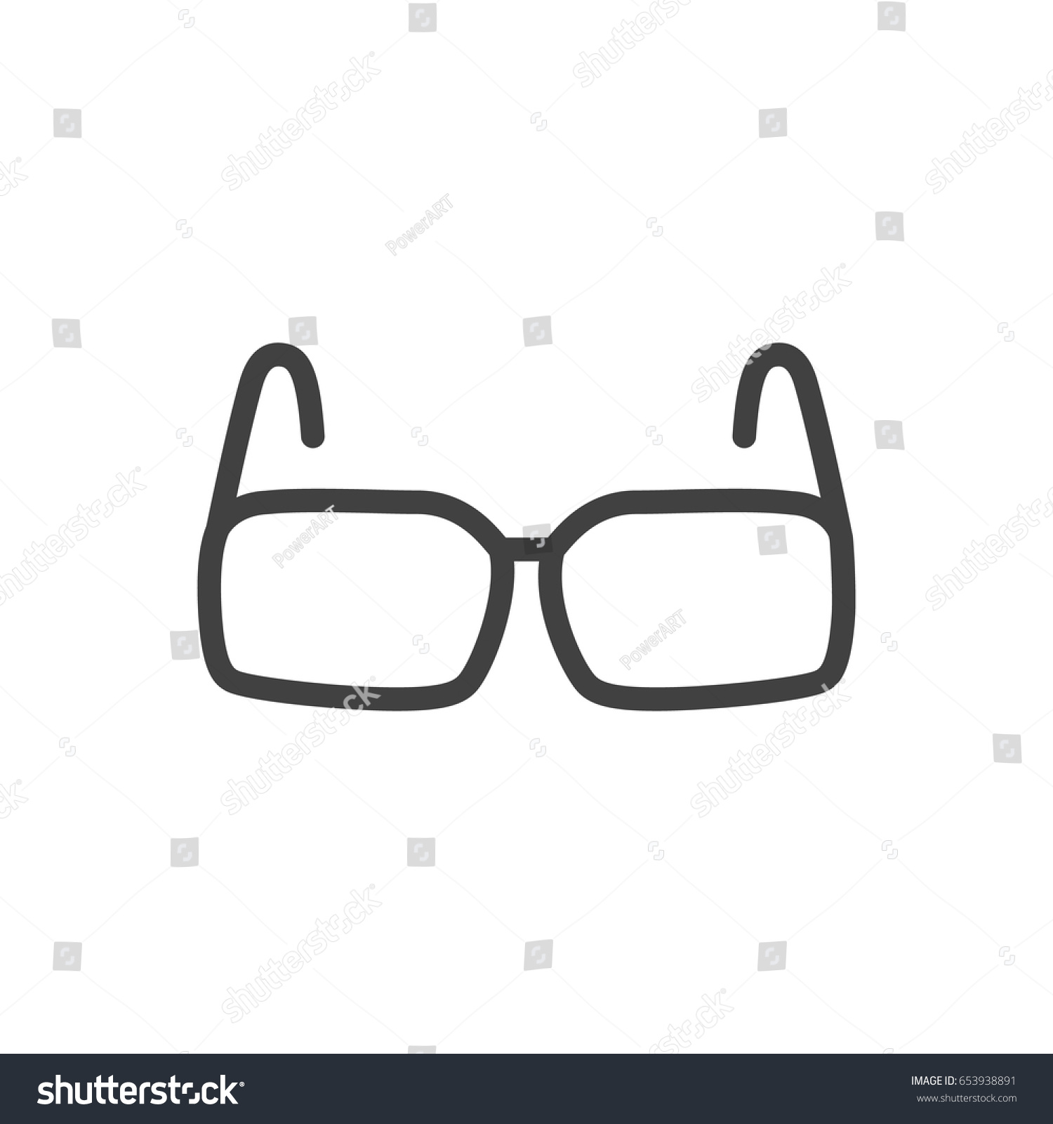 Isolted Spectacles Outline Symbol On Clean Stock Vector Royalty