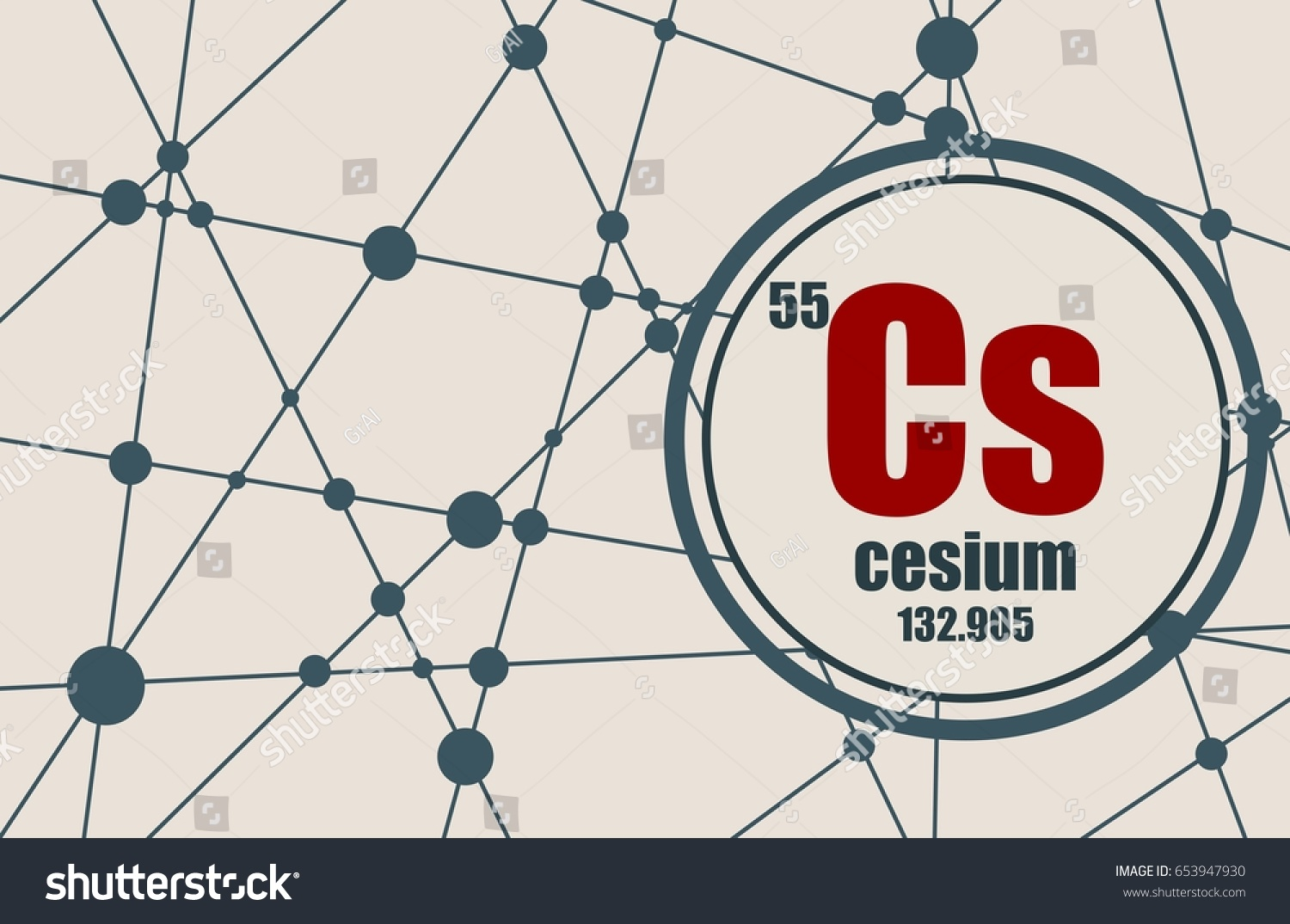 Cesium chemical element sign atomic number stock vector 653947930 cesium chemical element sign with atomic number and atomic weight chemical element of periodic gamestrikefo Choice Image