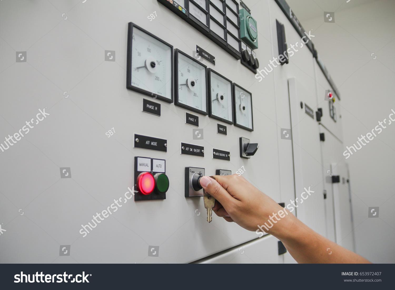 Close Hand Operate Switch Key Change Stock Photo (Edit Now ...