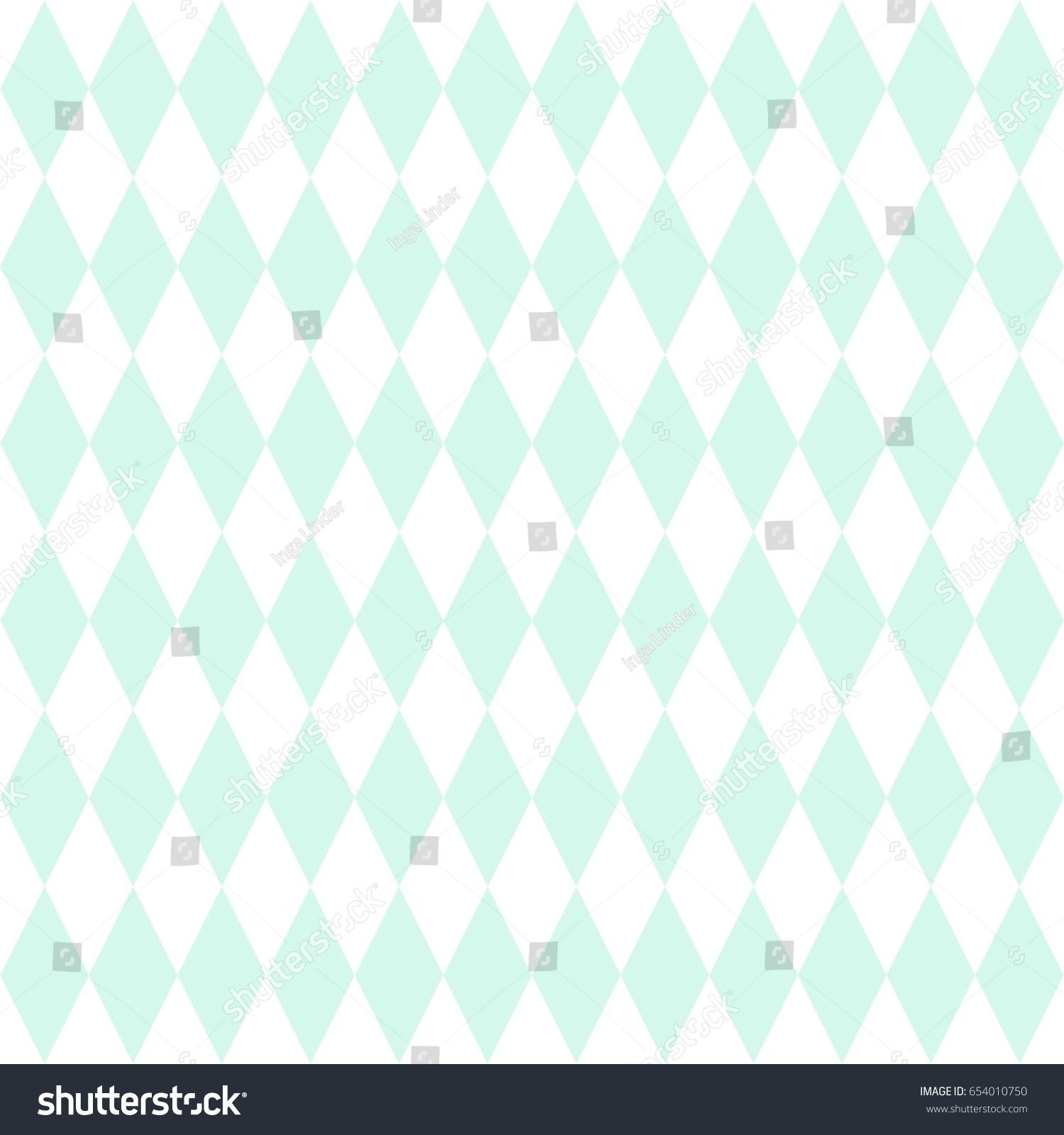 Tile Vector Pattern Mint Green White 654010750