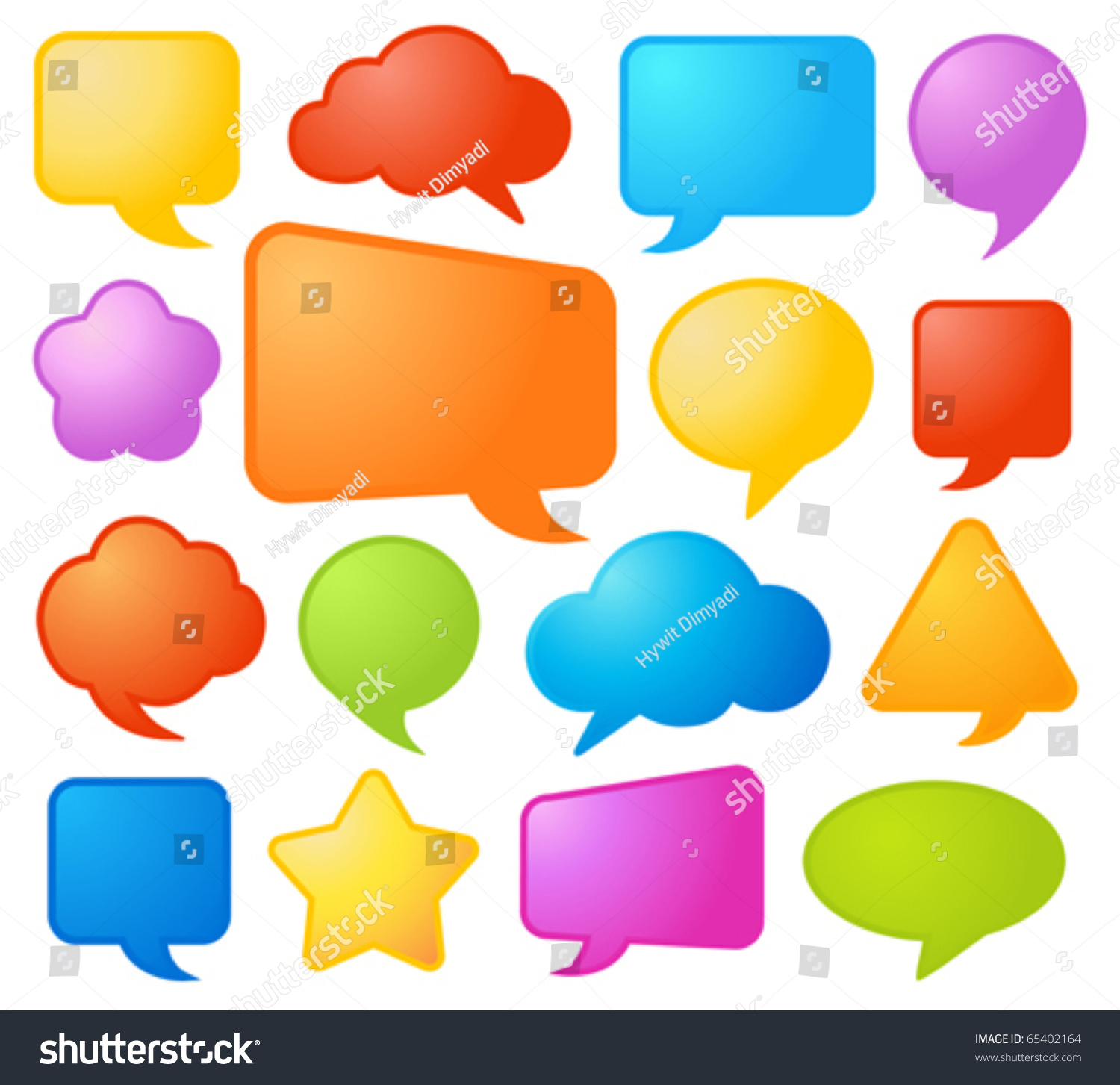 Worksheet Shapes And Colors collection of various shapes and colors comic speech bubbles in vector format 65402164 shutterstock