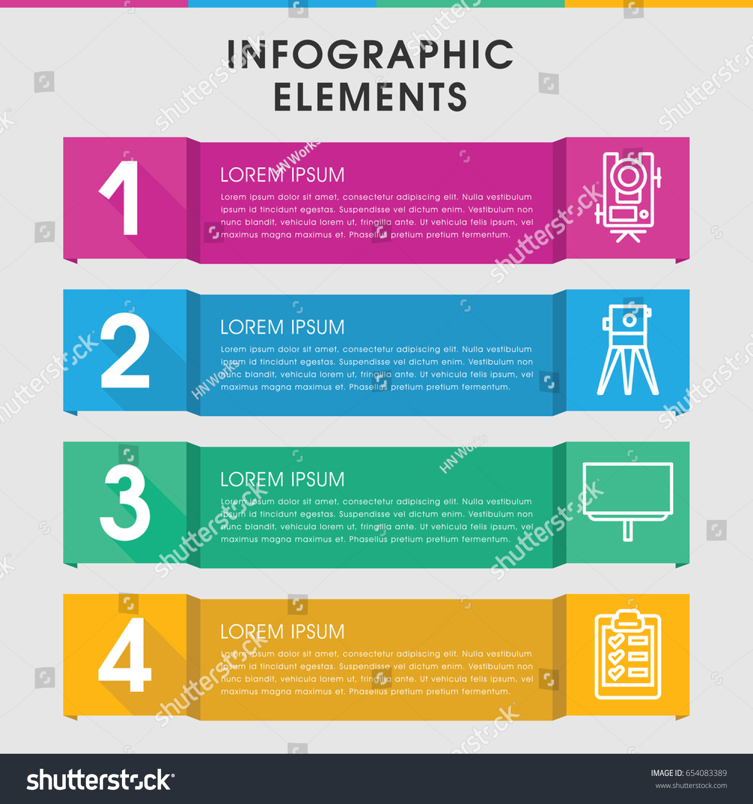 modern survey infographic template infographic design stock vector