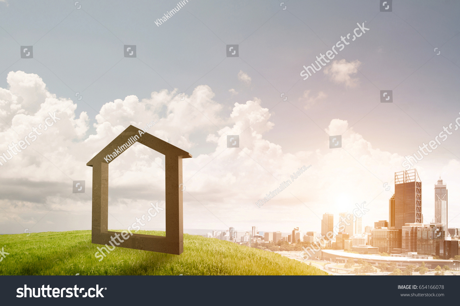 House stone figure symbol construction real stock photo 654166078 house stone figure as symbol of construction and real estate outdoors buycottarizona Image collections