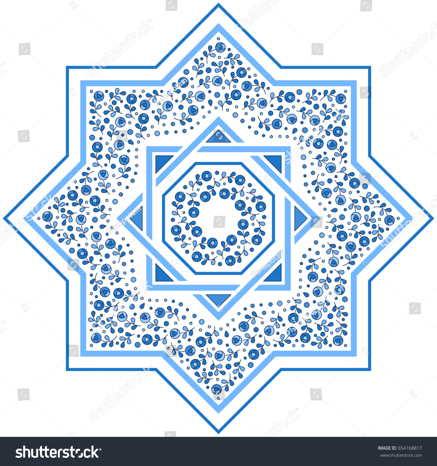 Patterned floor tile moroccan pattern design stock vector patterned floor tile moroccan pattern design eight ray star vector illustration dailygadgetfo Images
