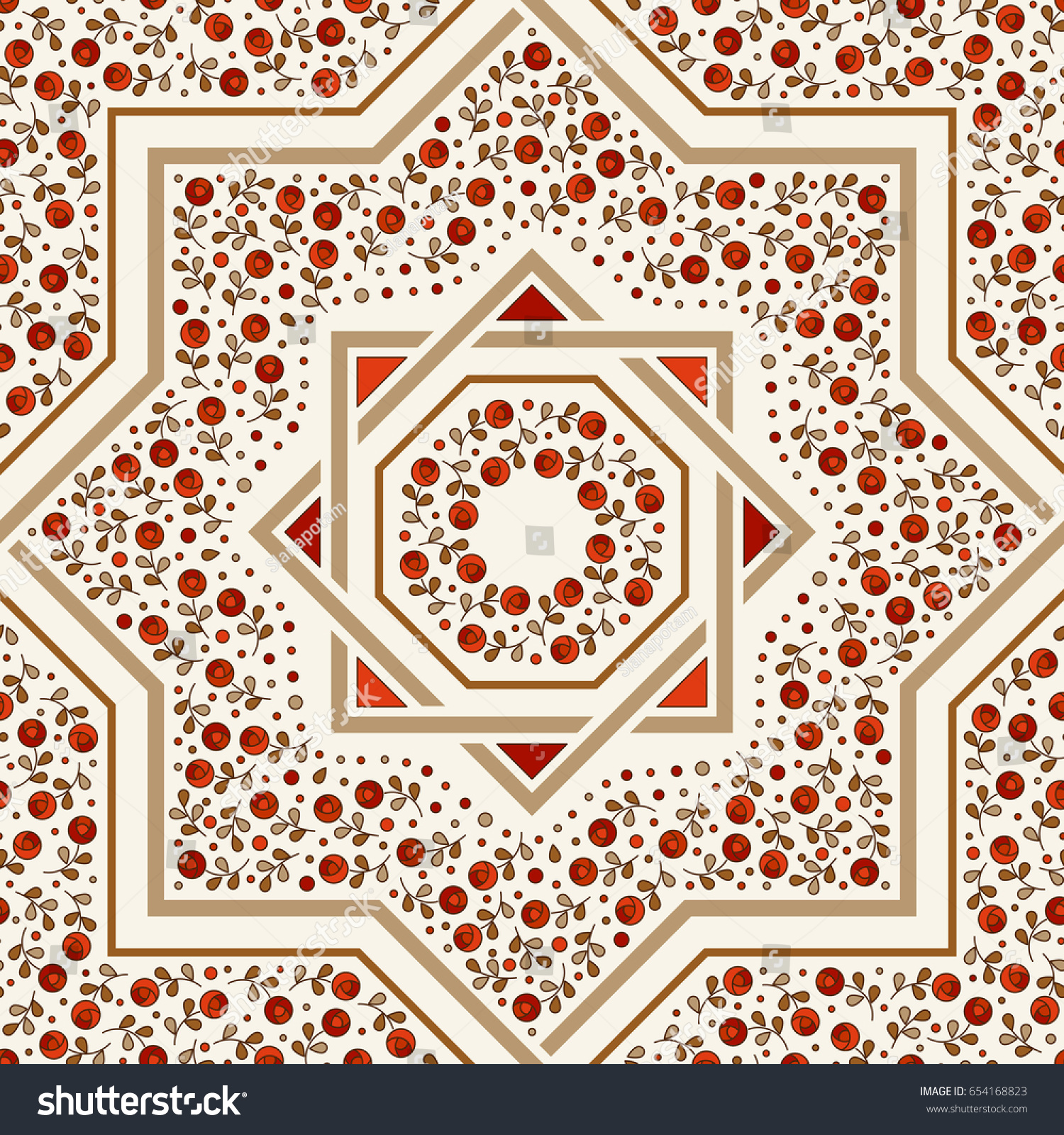 Patterned floor tile moroccan pattern design stock vector patterned floor tile moroccan pattern design eight ray star seamless vector pattern dailygadgetfo Image collections