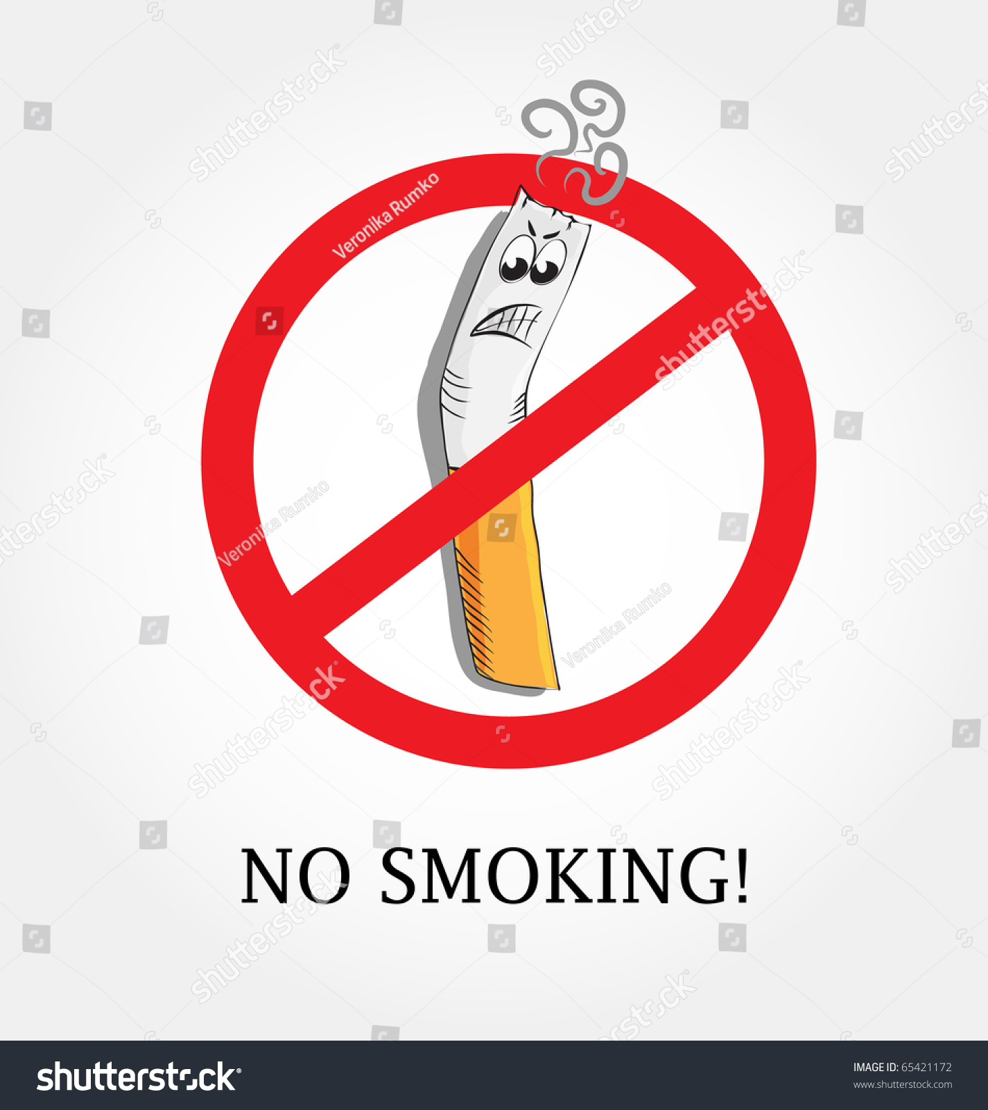 No smoking symbol stock vector 65421172 shutterstock no smoking symbol buycottarizona Images