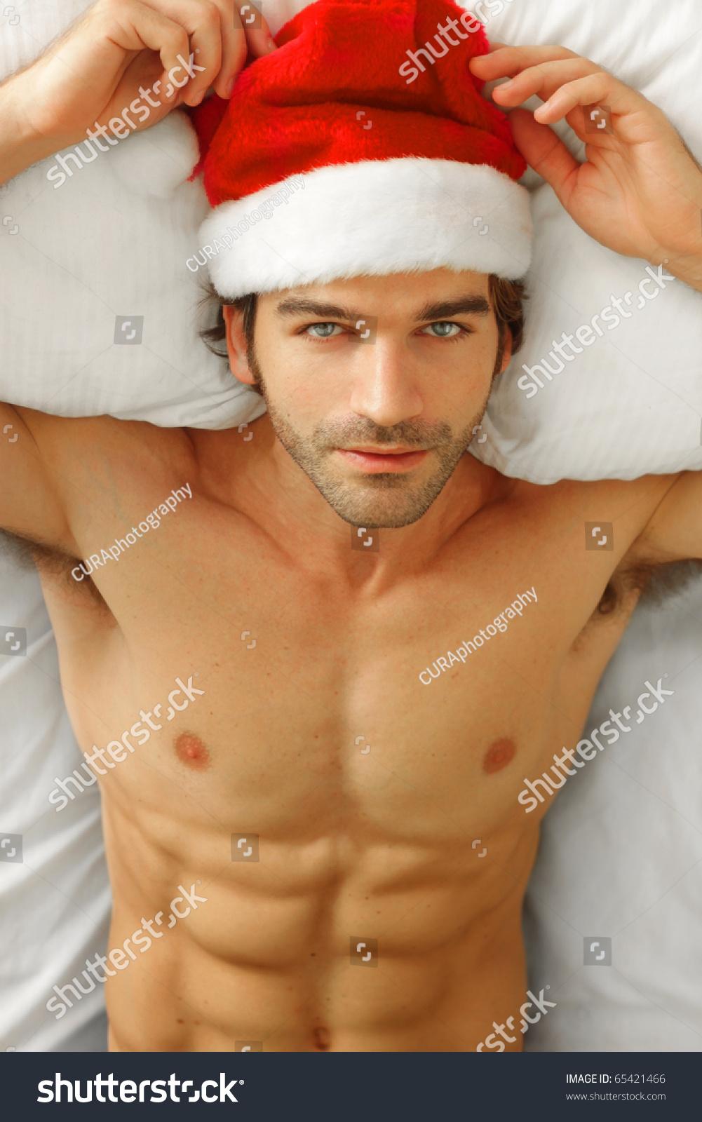 sexy santa male model