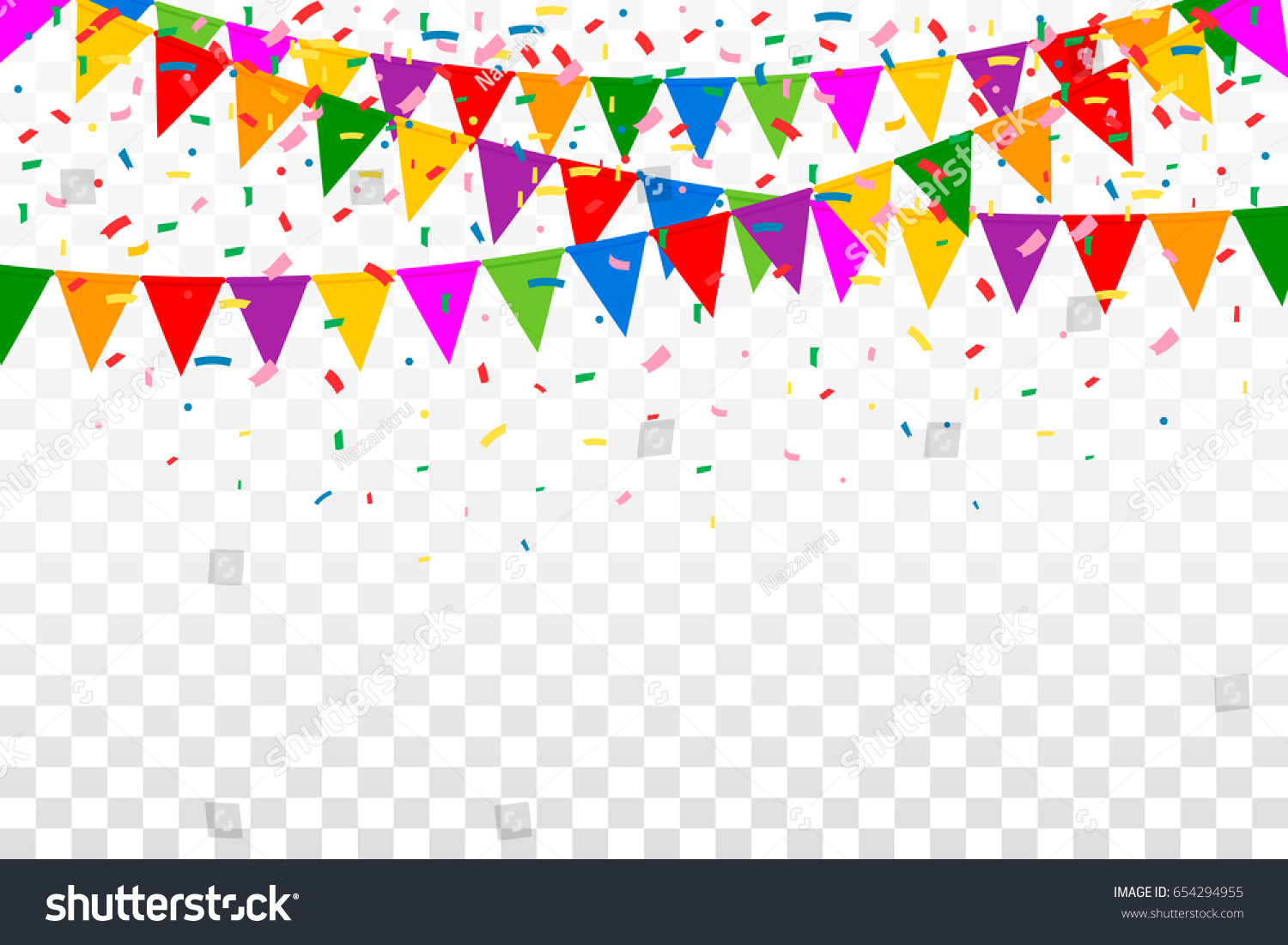 Celebration Web Banner Colorful Party Flags Stock Vector 654294955 - Shutterstock