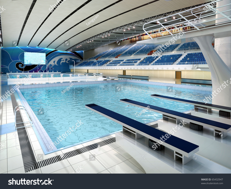 Rendering Swimming Pool Stock Photo 65432947 Shutterstock