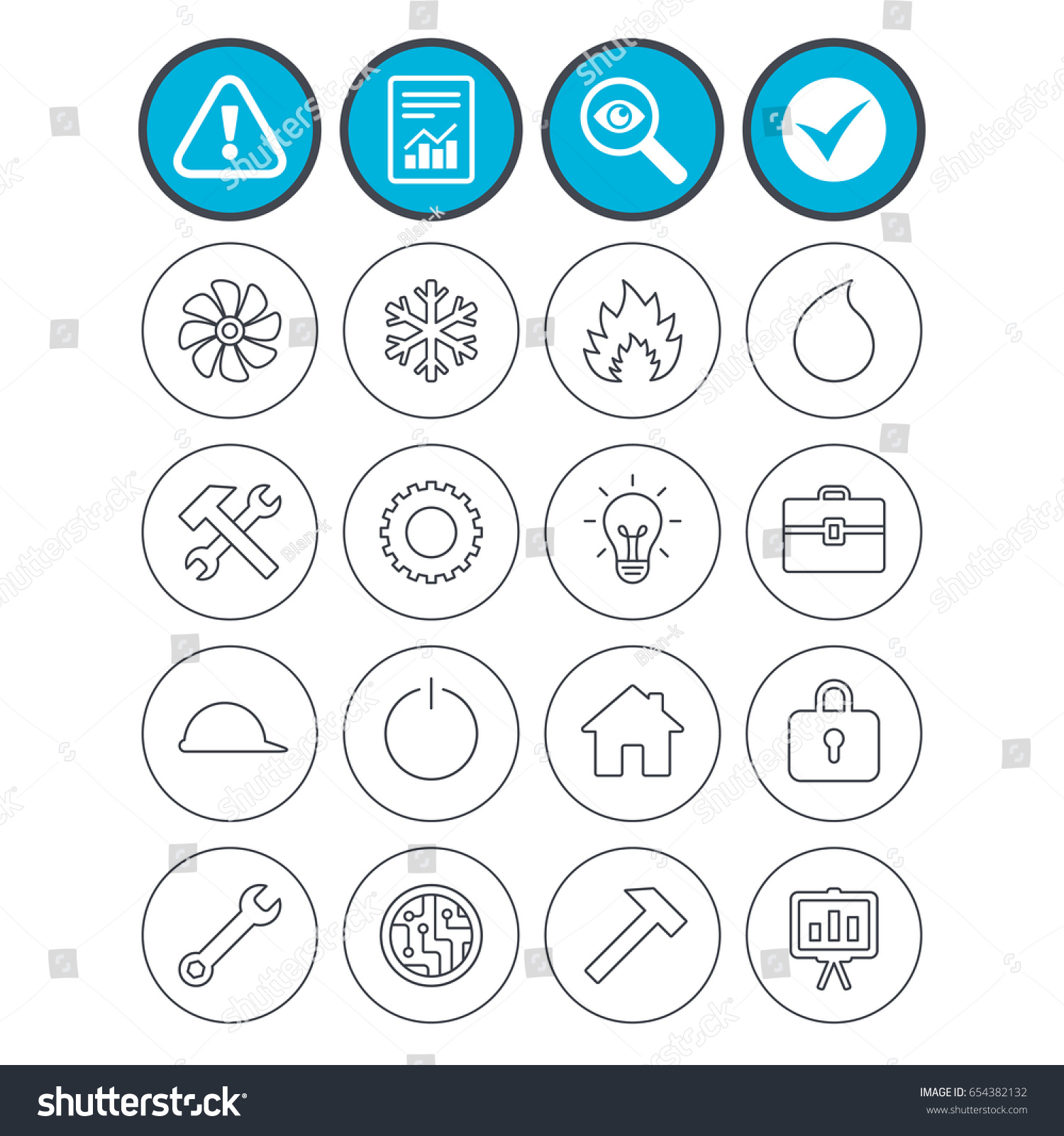 Report Check Tick Attention Signs Engineering Stock Vector Royalty
