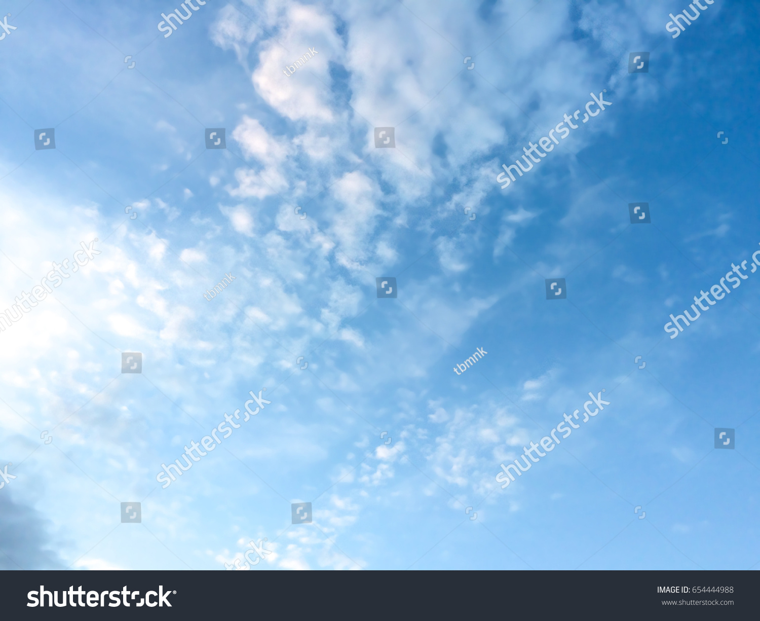 blurry background clear blue sky clouds stock photo (royalty free