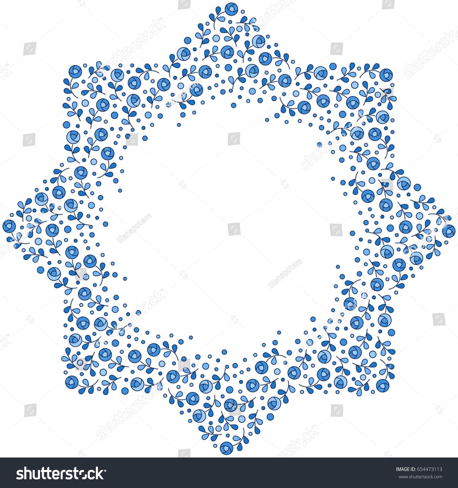 patterned floral frame moroccan pattern design stock vector