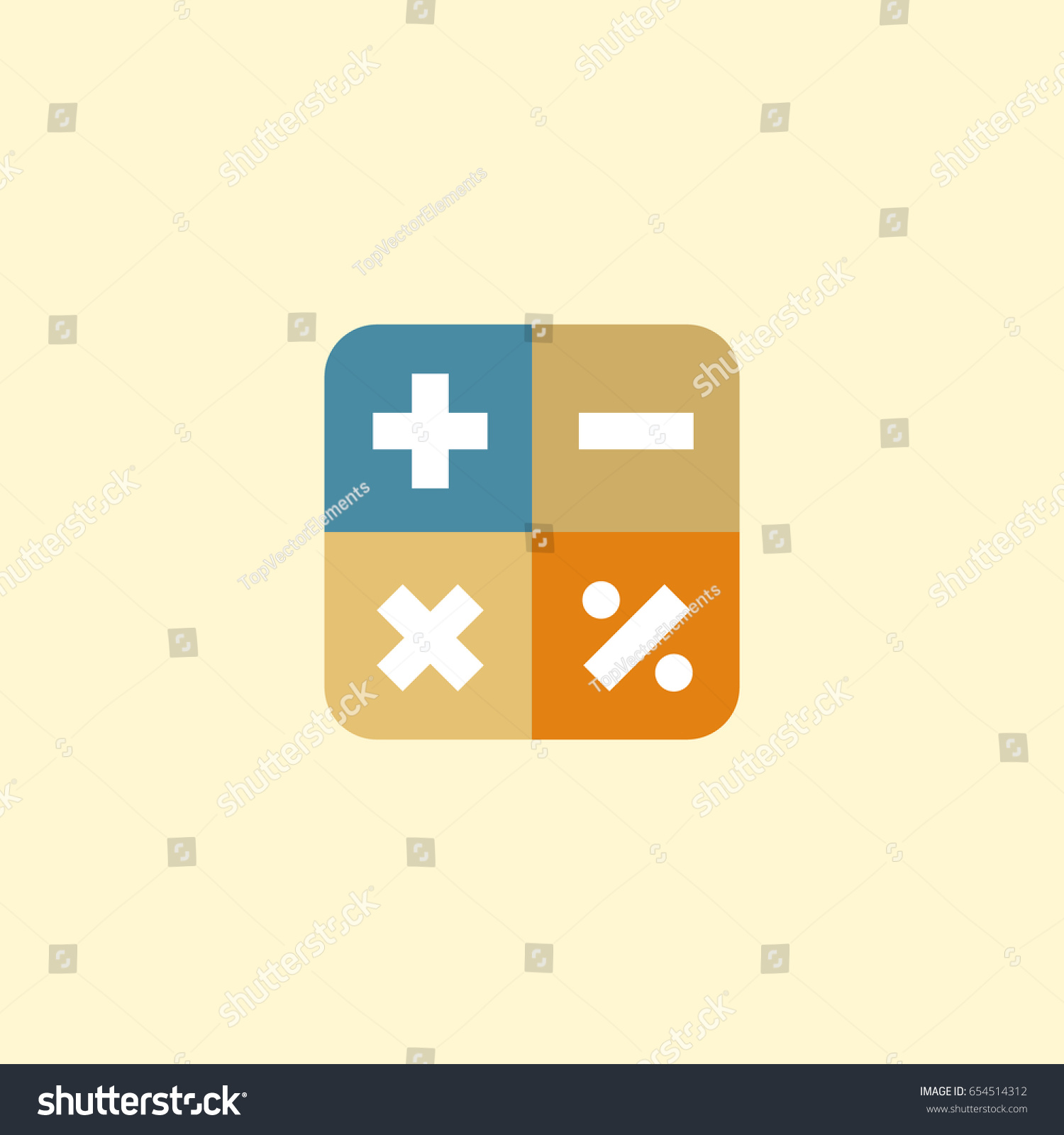 Flat math element vector illustration flat stock vector 654514312 flat math element vector illustration of flat algebra isolated on clean background can be biocorpaavc Image collections