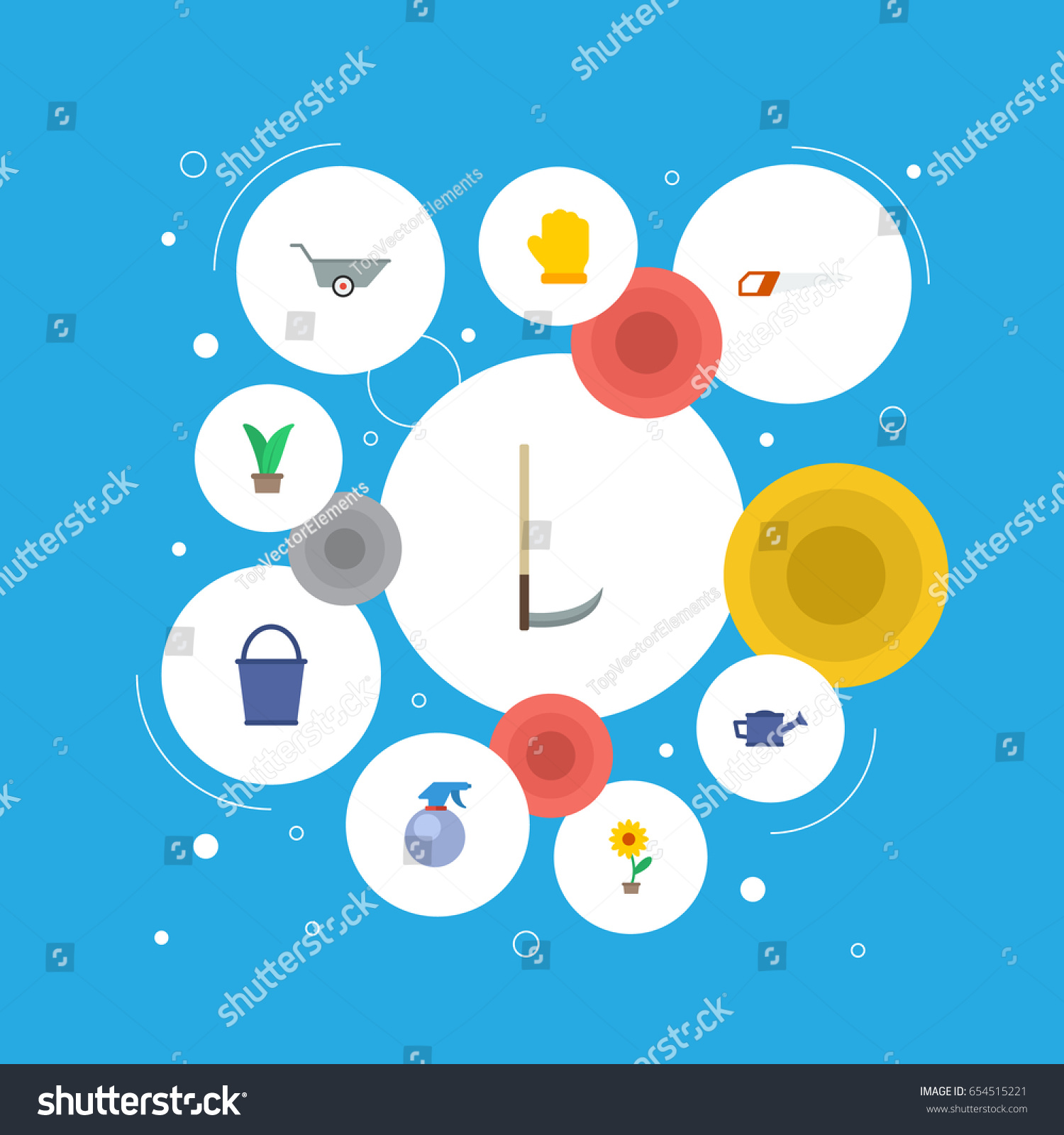 Flat Cutter Spray Bottle Latex Other Stock Vector 654515221