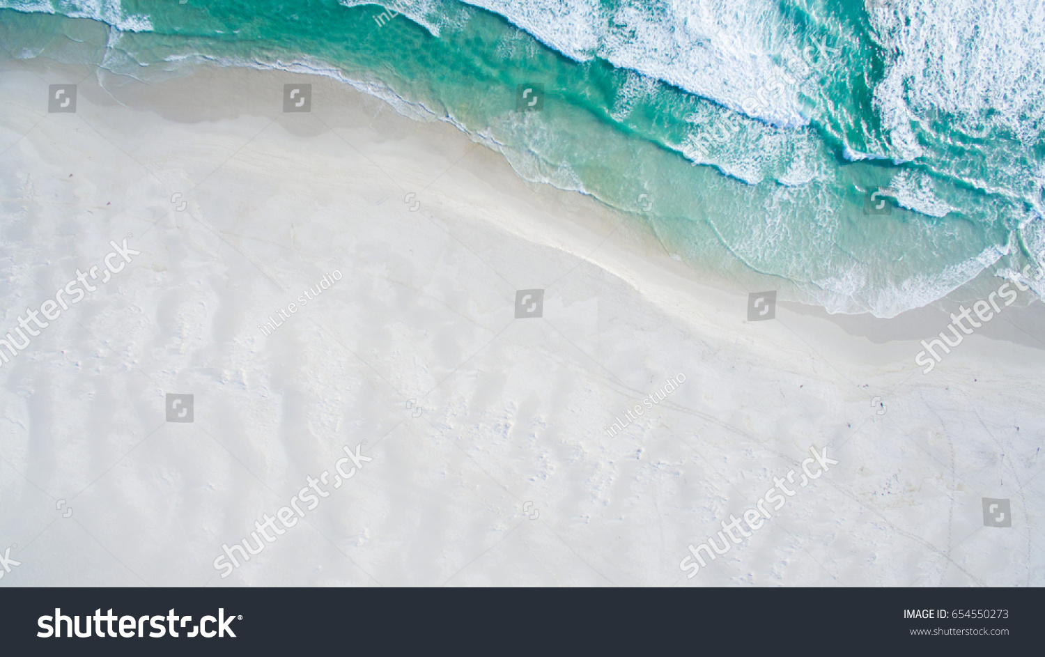 Aerial view of ocean shore #654550273
