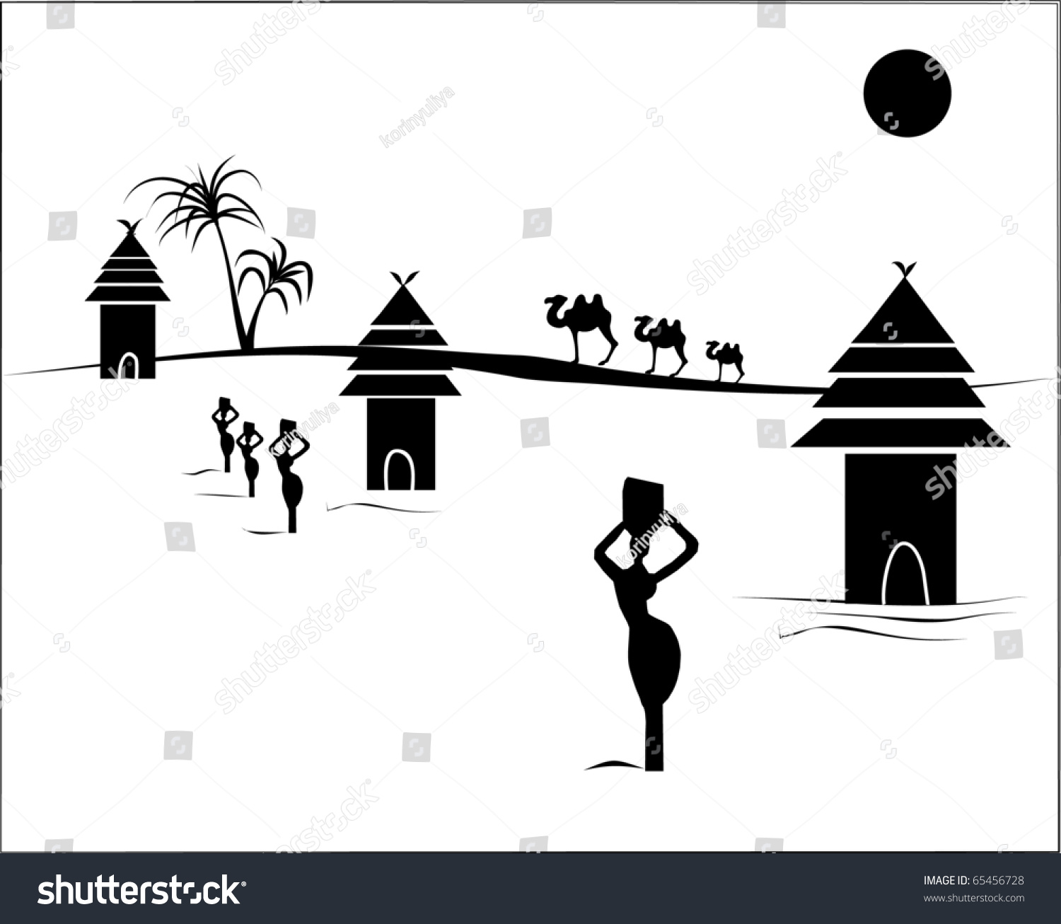 African Village Clipart