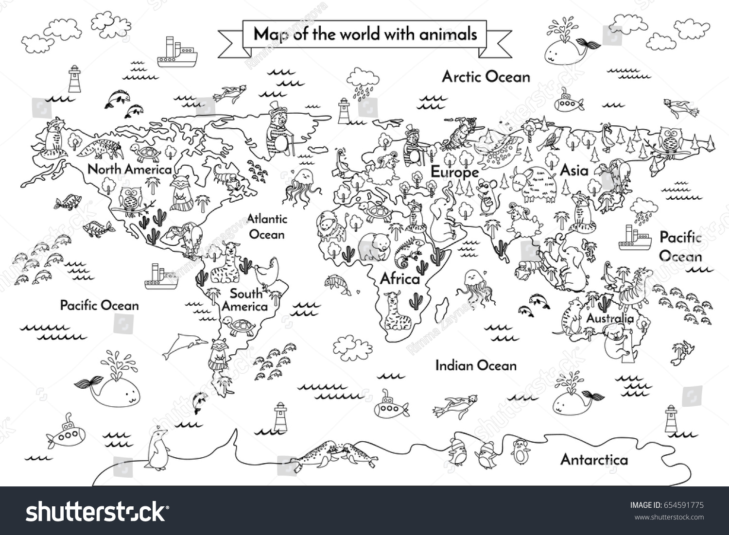 Old Fashioned Coloring Map Of The World Composition - Coloring Paper ...