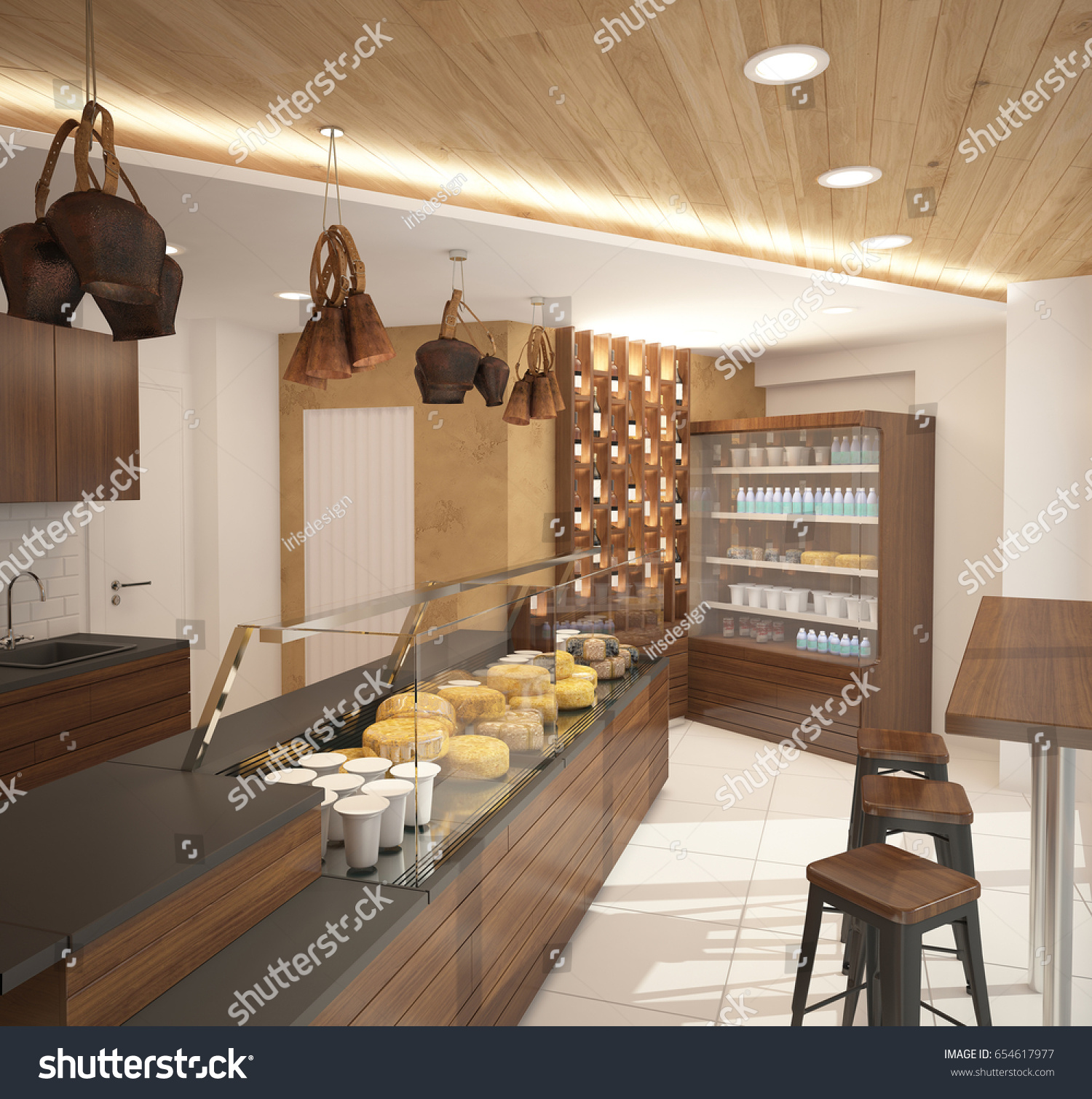 interior portfolio concept rendering kitchen items design