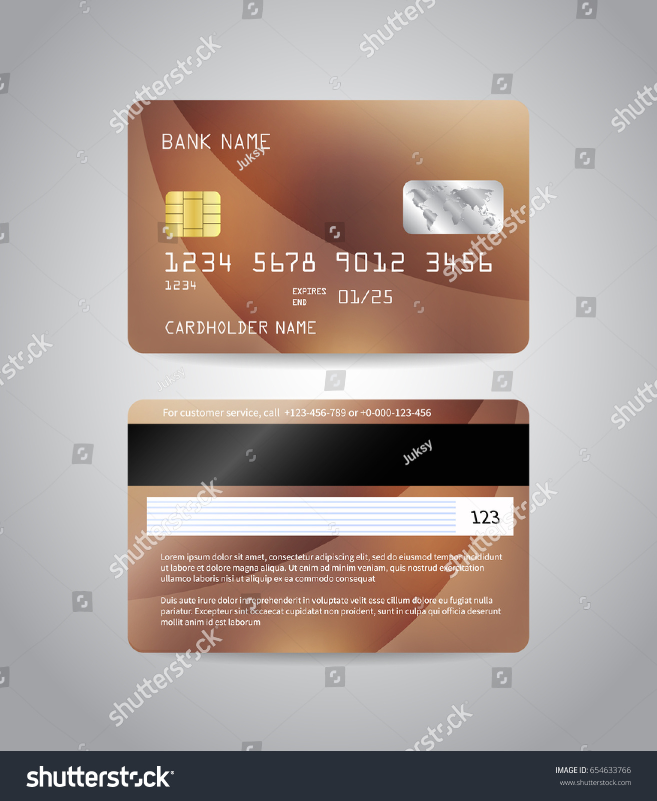 Realistic Detailed Credit Cards Set Colorful Stock Vector Royalty