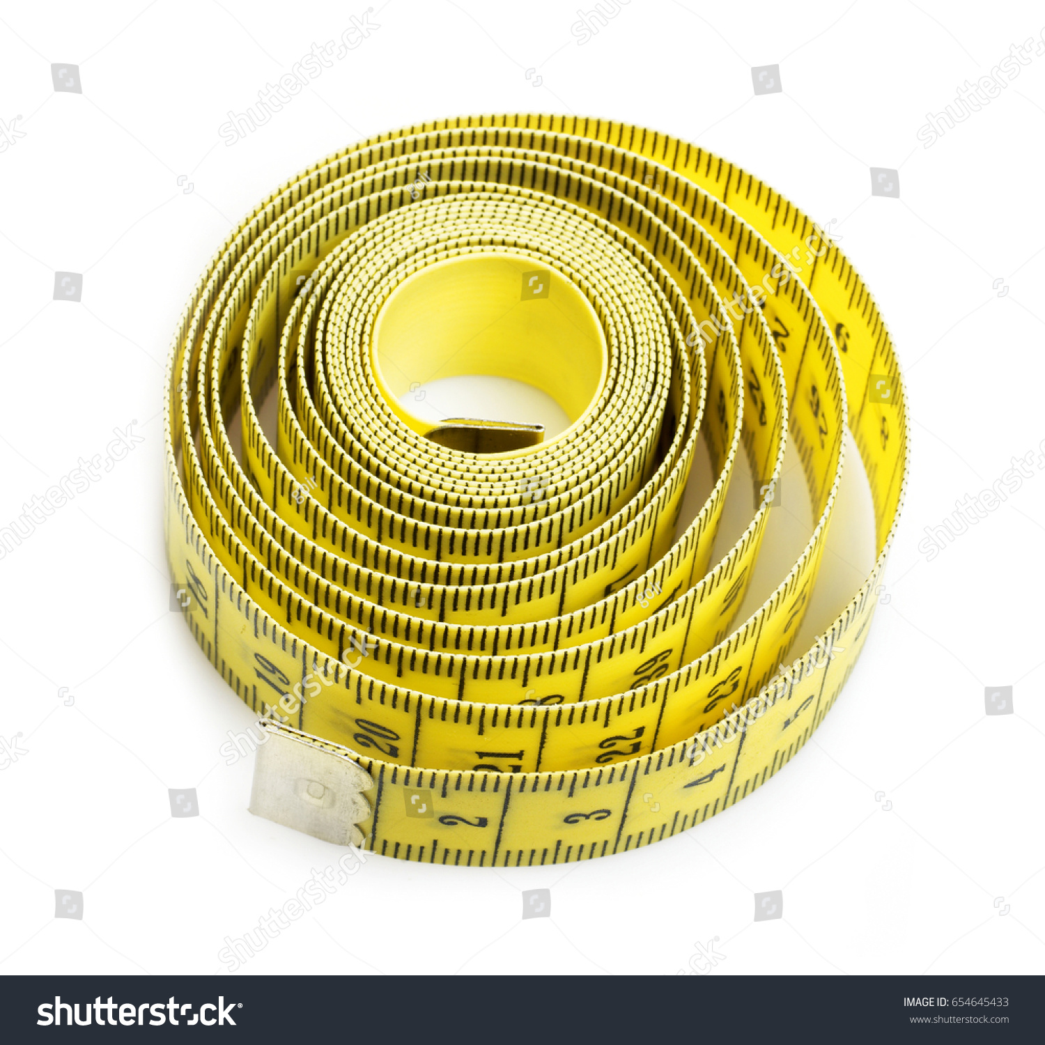 Yellow And White Measuring Tapes Isolated On Background Ez Tape Diagram Canvas
