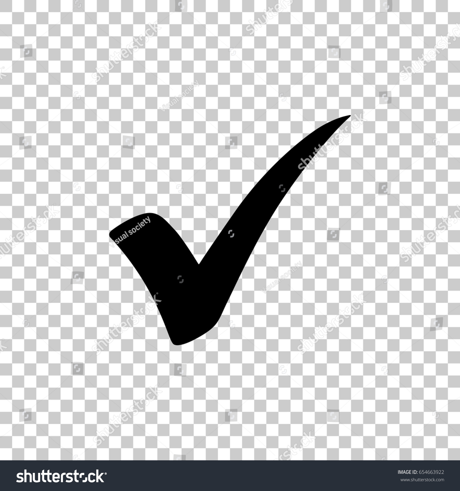 Check Mark Isolated On Transparent Background Stock Vector Royalty